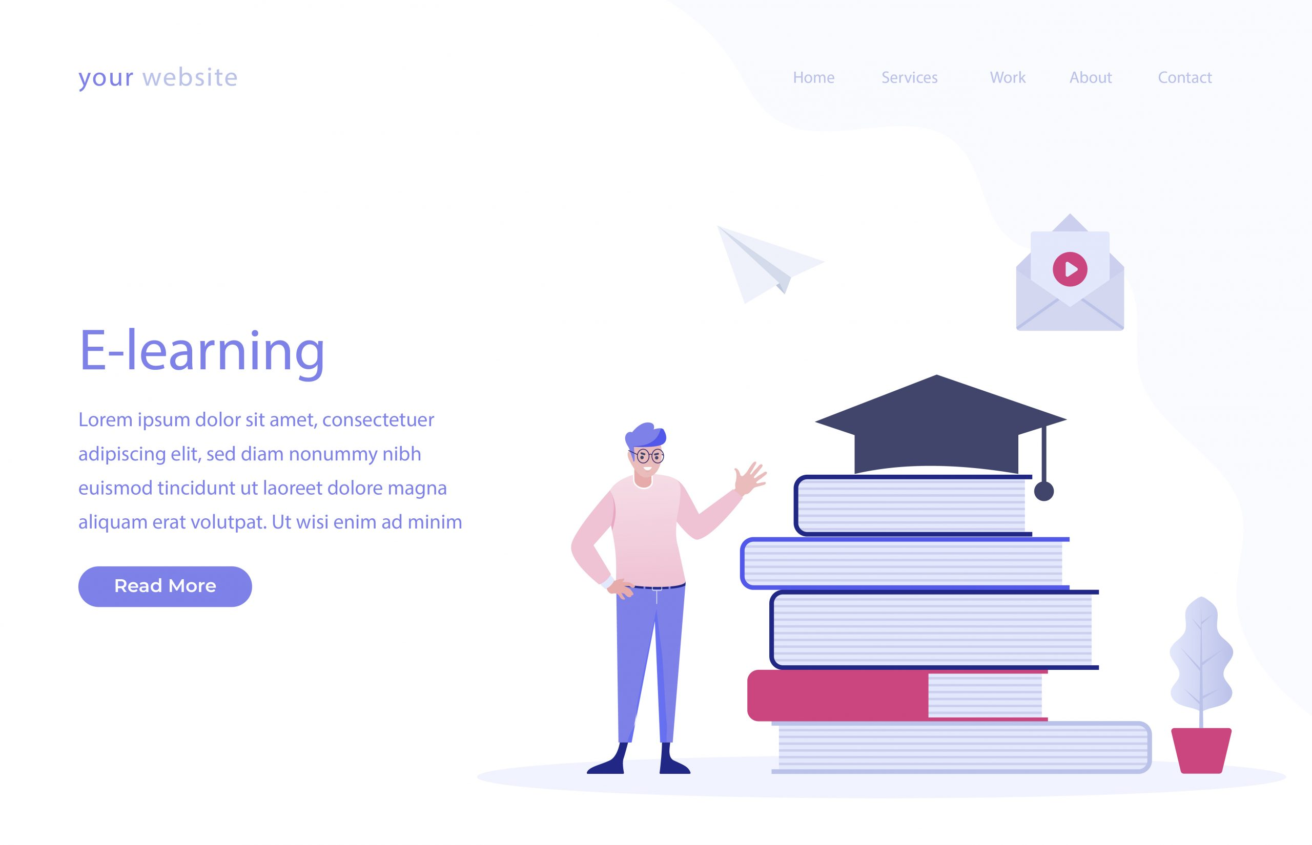 E Learning Vector Download