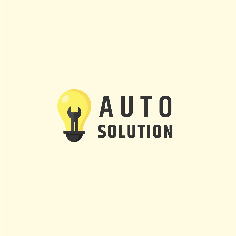 Auto Solution Logo Design Template