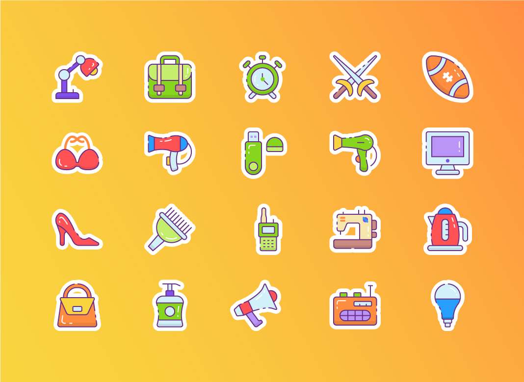 Cute Sticker Icons Free Download