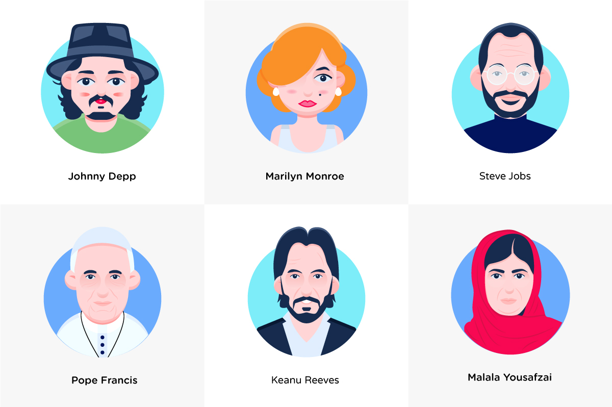 Free Famous People Avatars Download