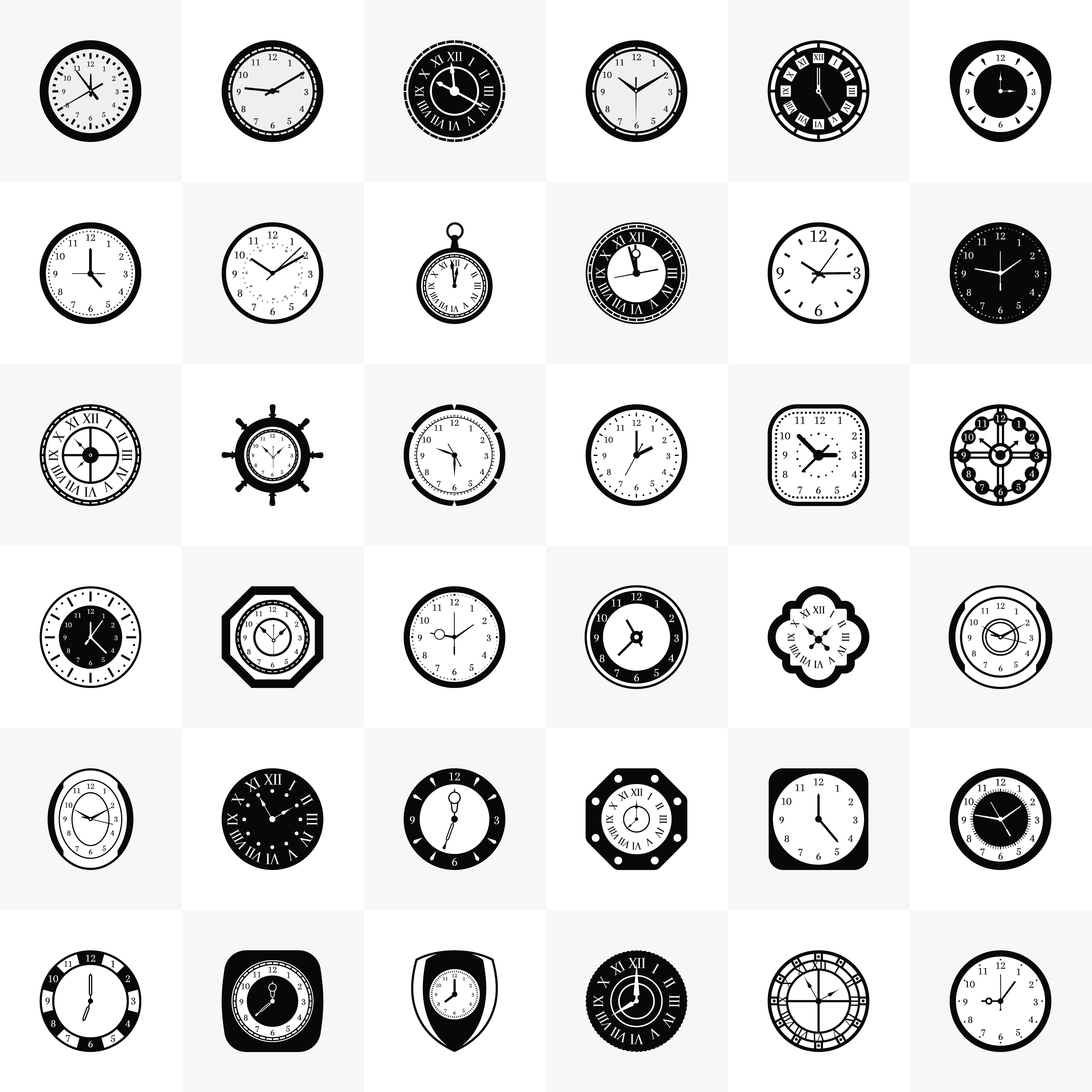 Clock Free Vector Icons Download