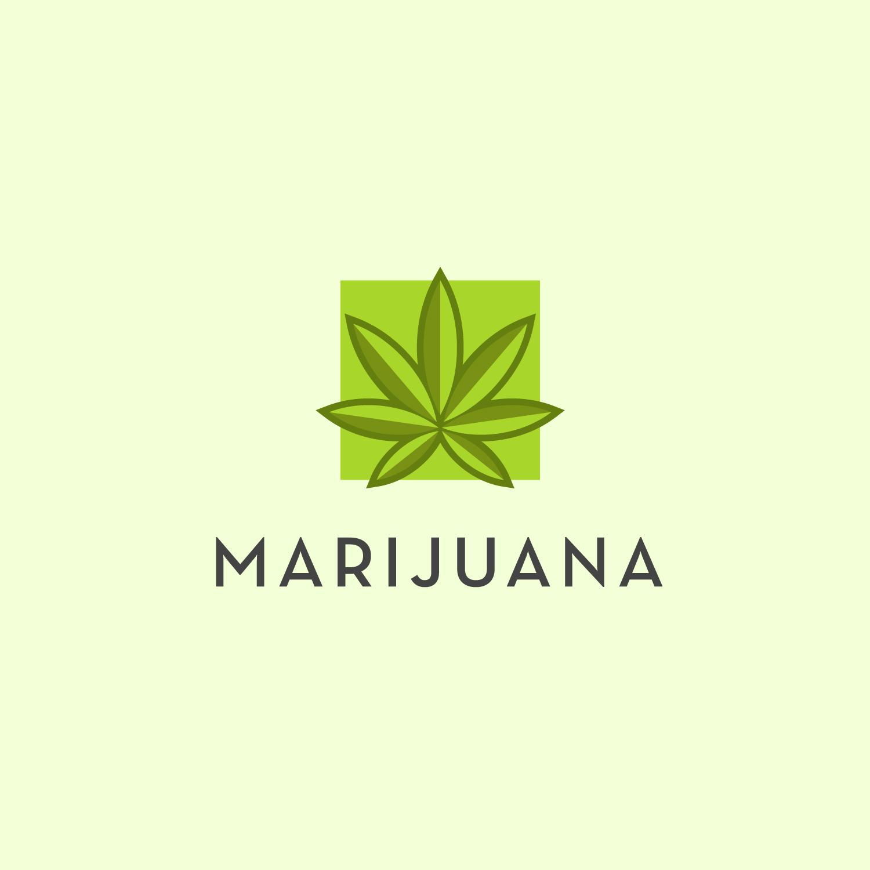 Marijuana Logo Free Vector Template