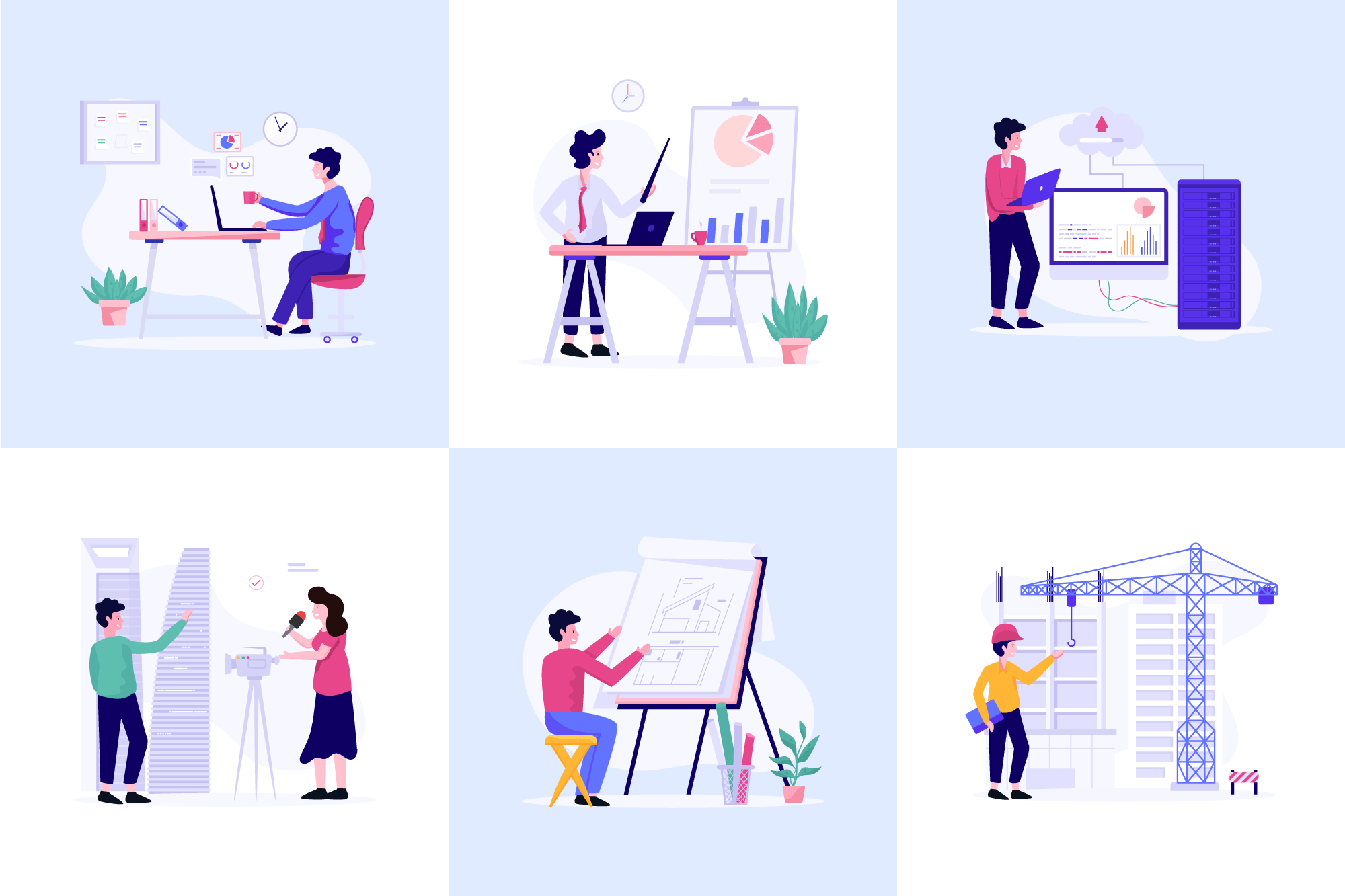 Workplace Fee Vector Art