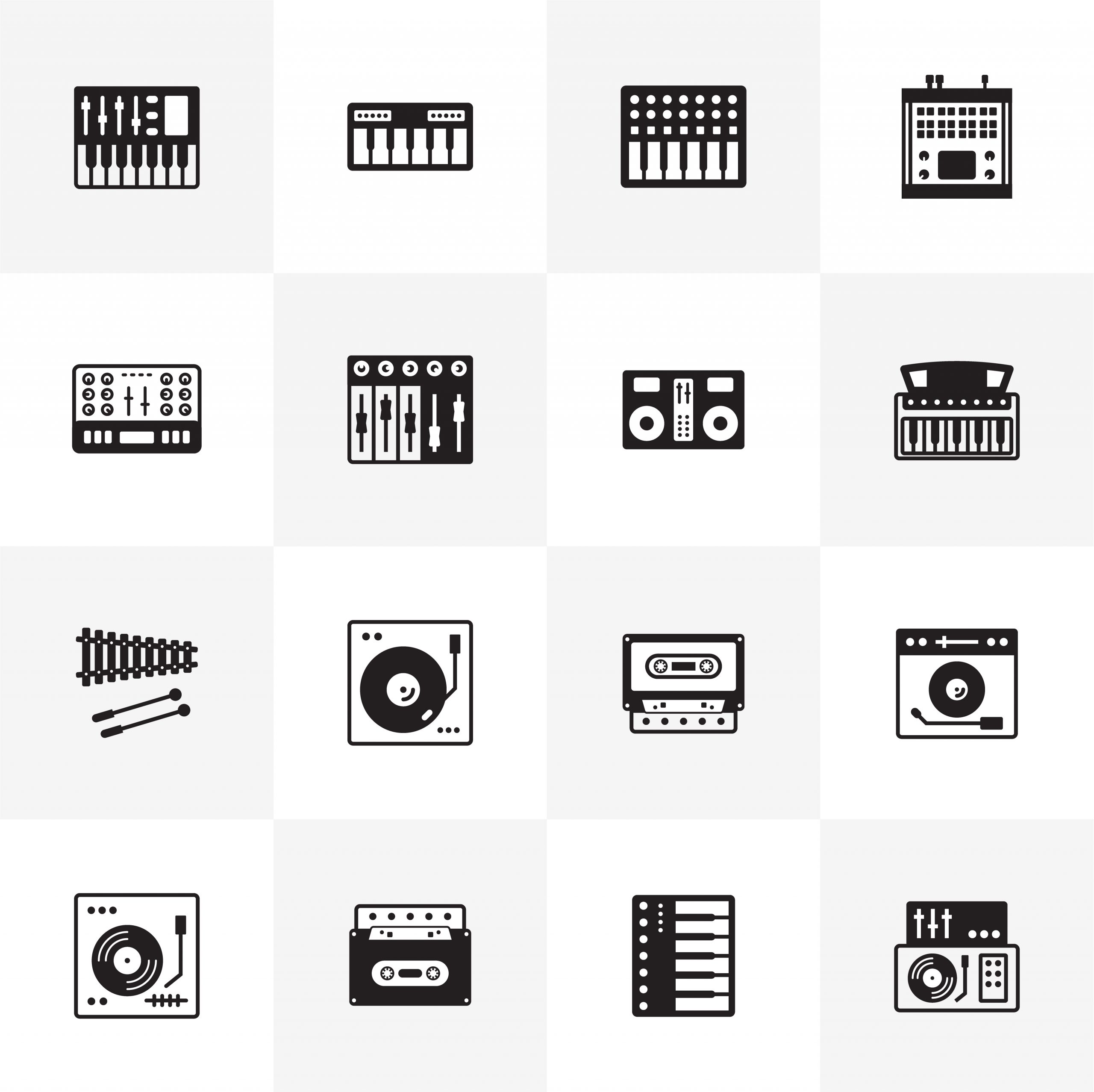Download Music Instruments Icons Pack