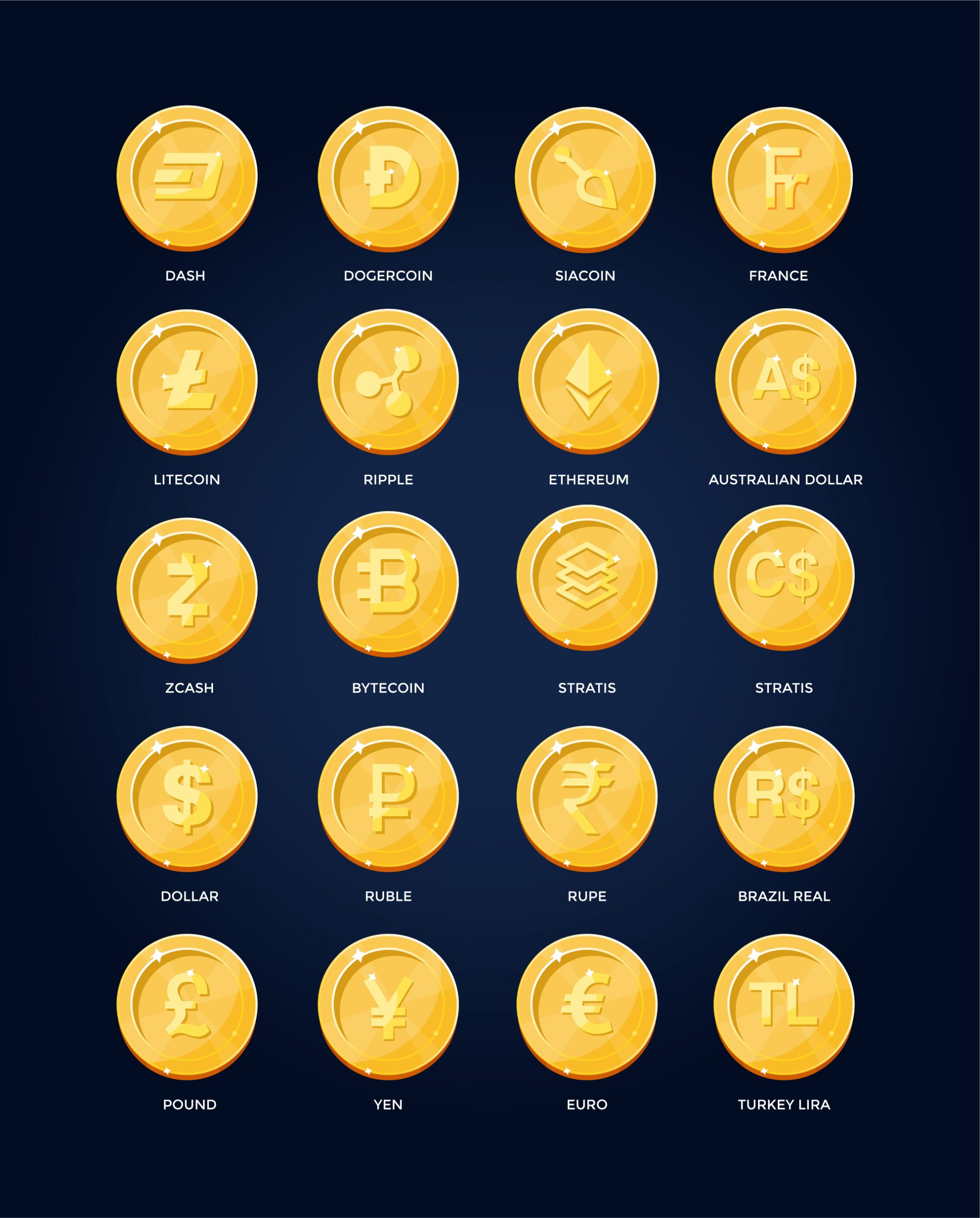 Currency Icons Free Download
