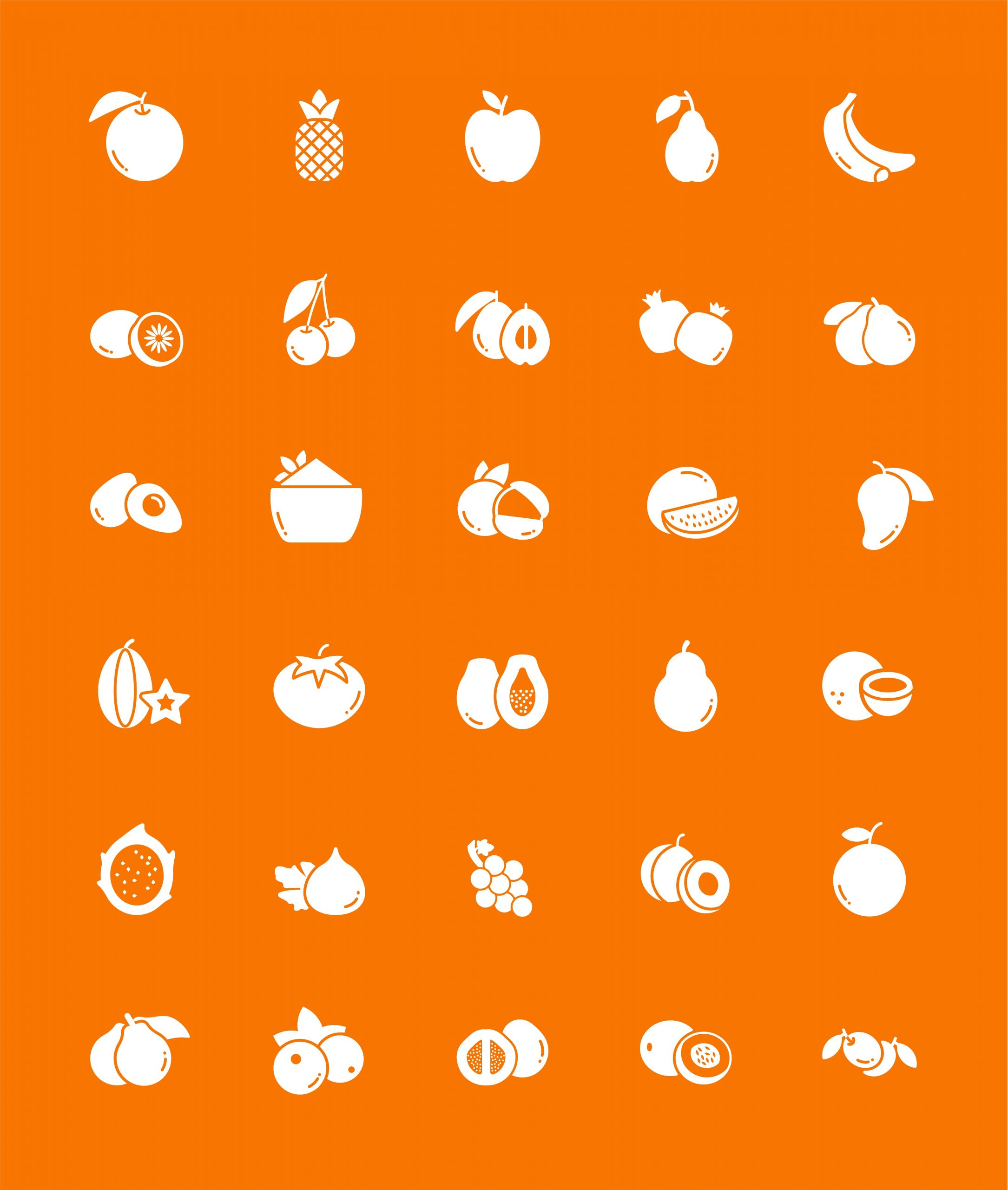 Fruits Icon Vector Download
