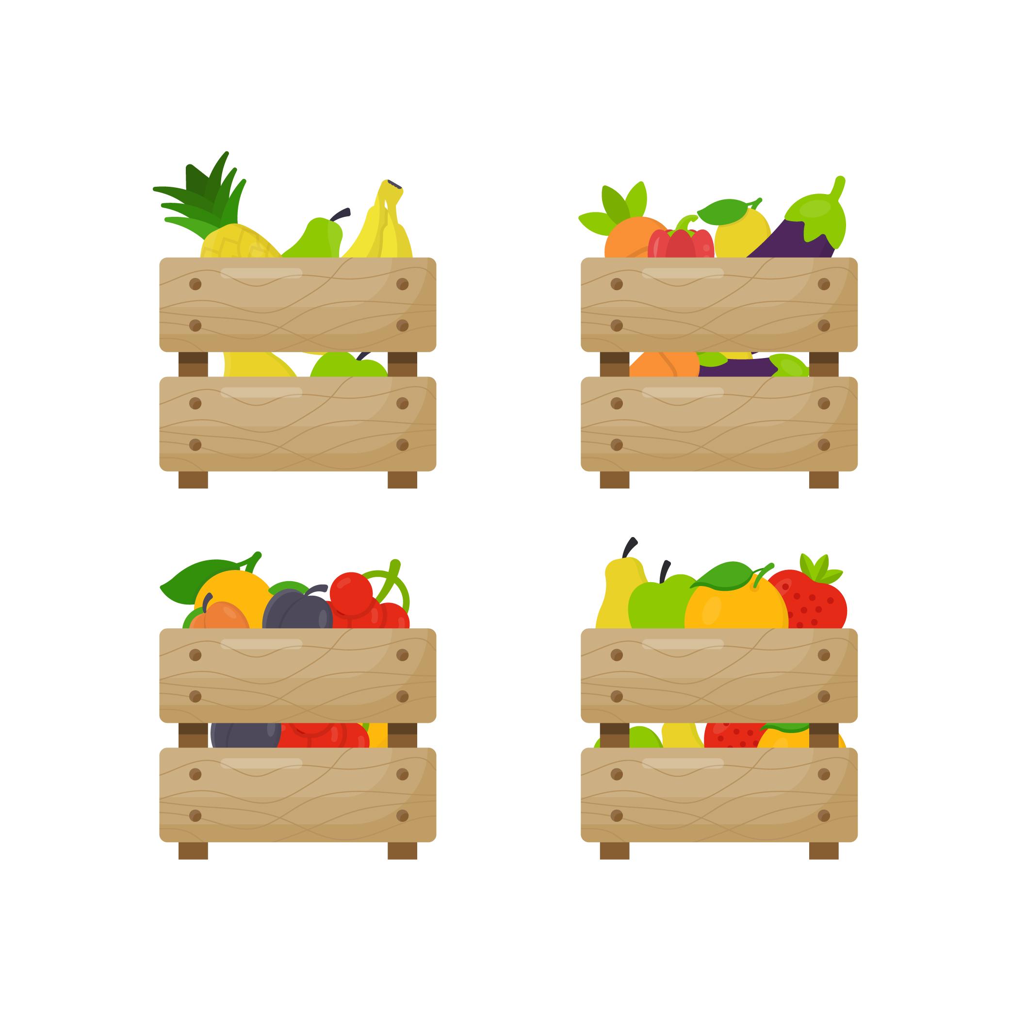 Wooden Crates Vector Illustration
