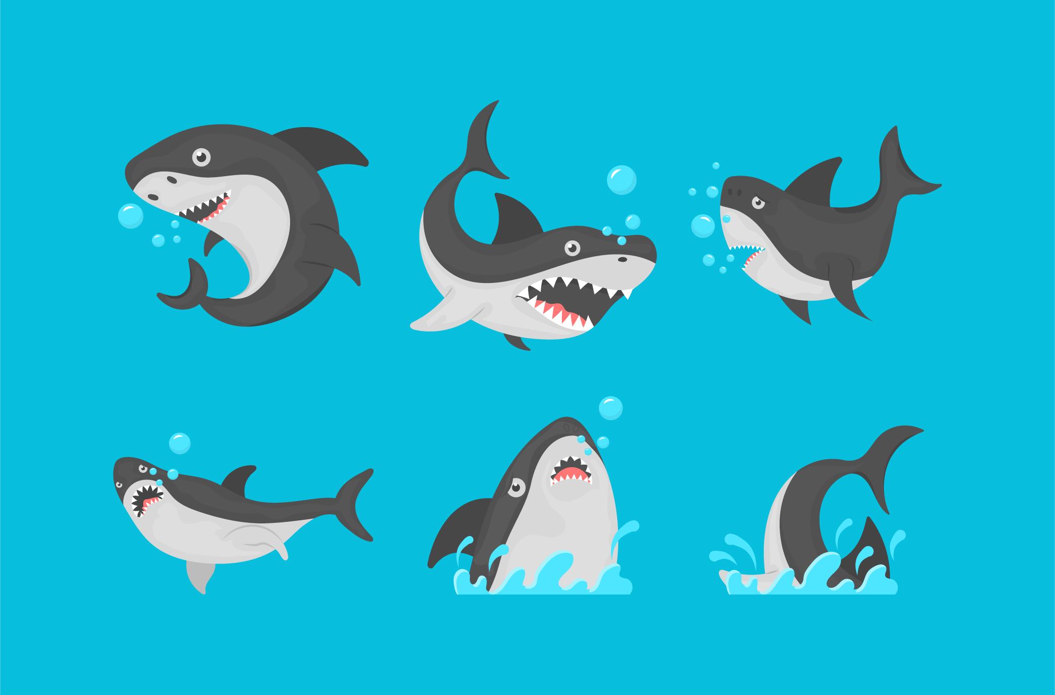 Free Sharks Vector Art