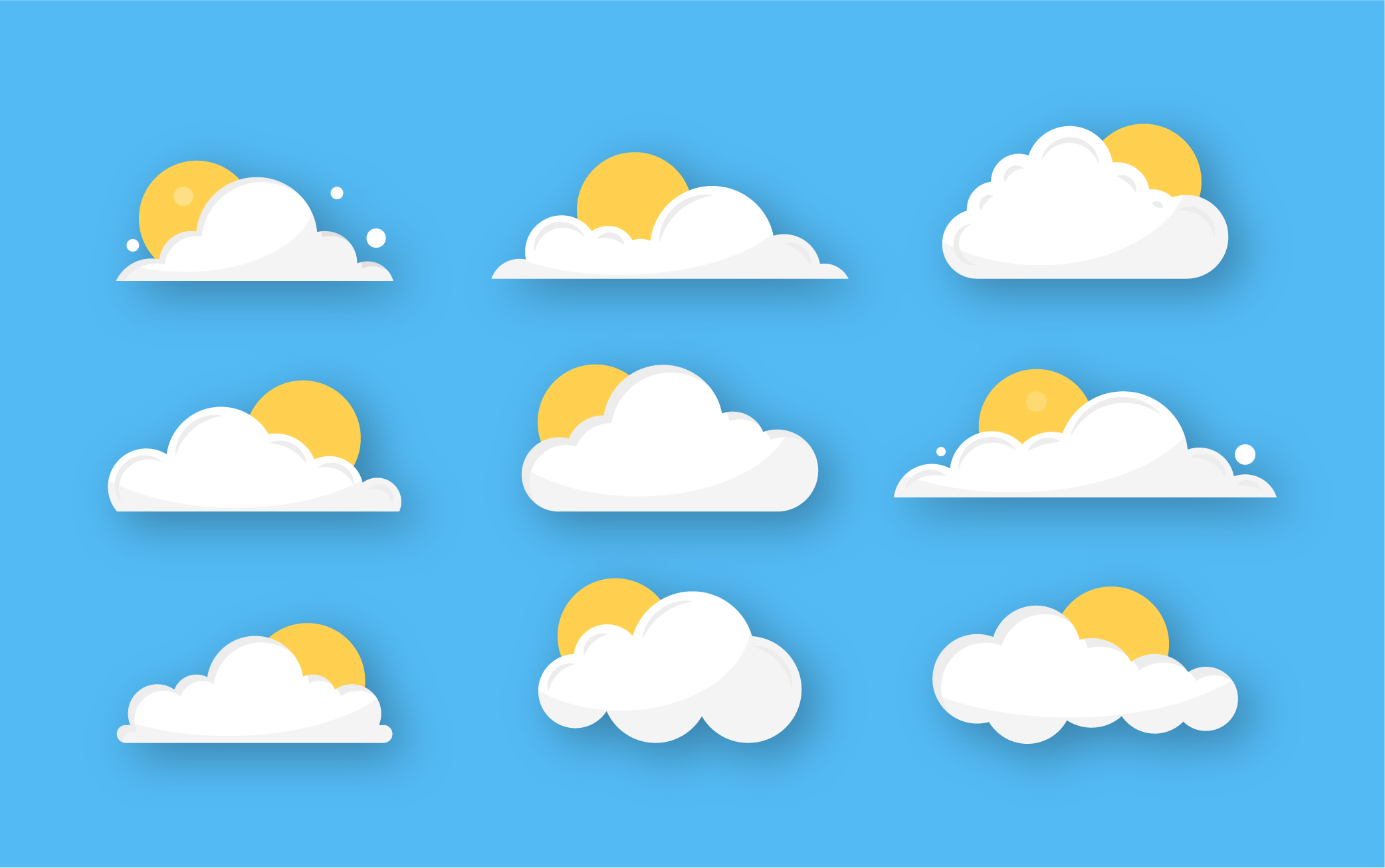 Cloud Icons Vector Download
