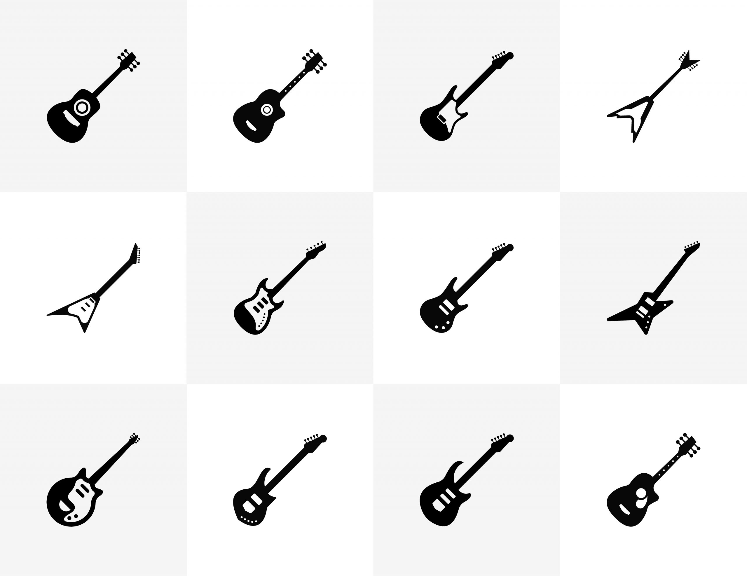 Solid Guitar Icons Free Download