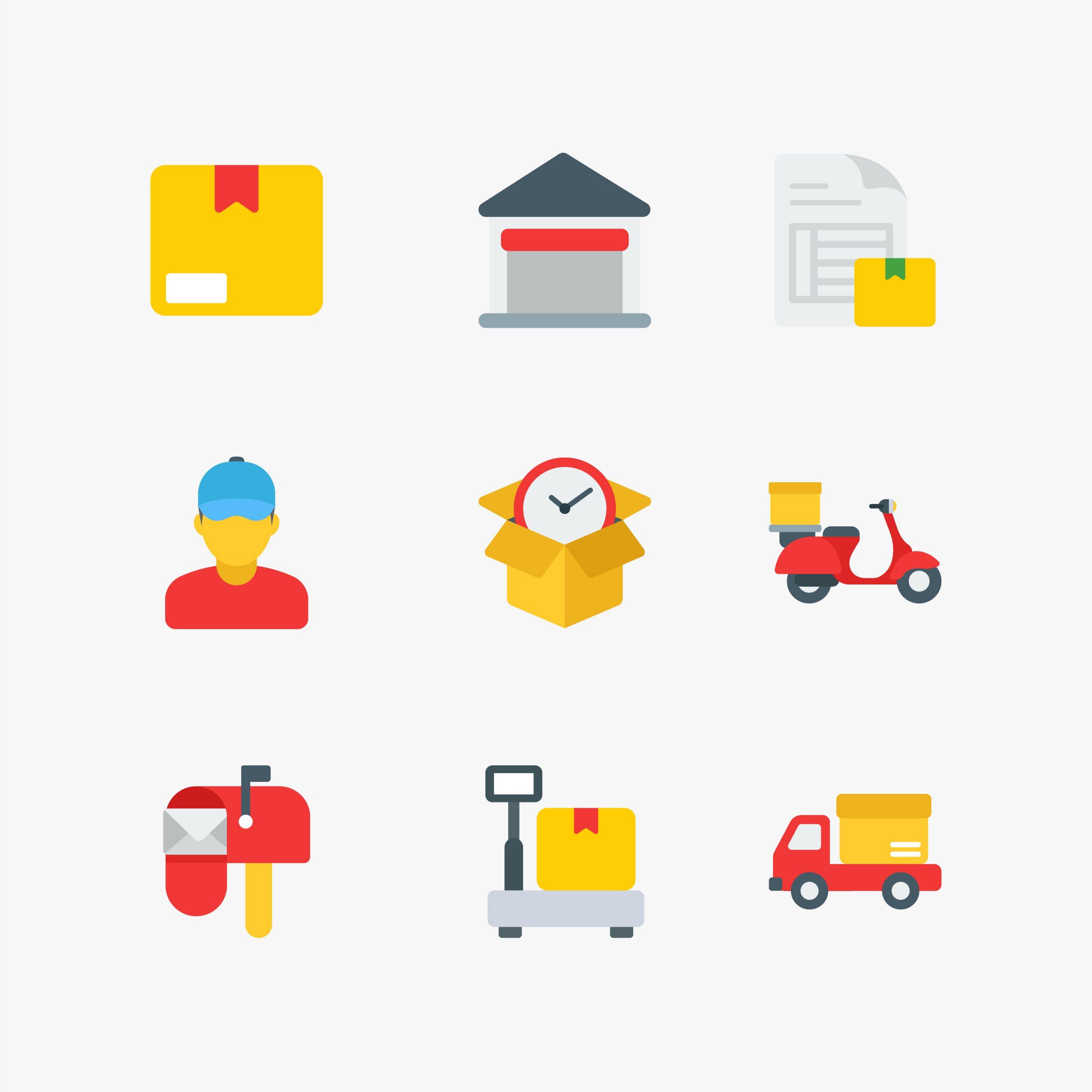Logistics Icons Free Vector Art