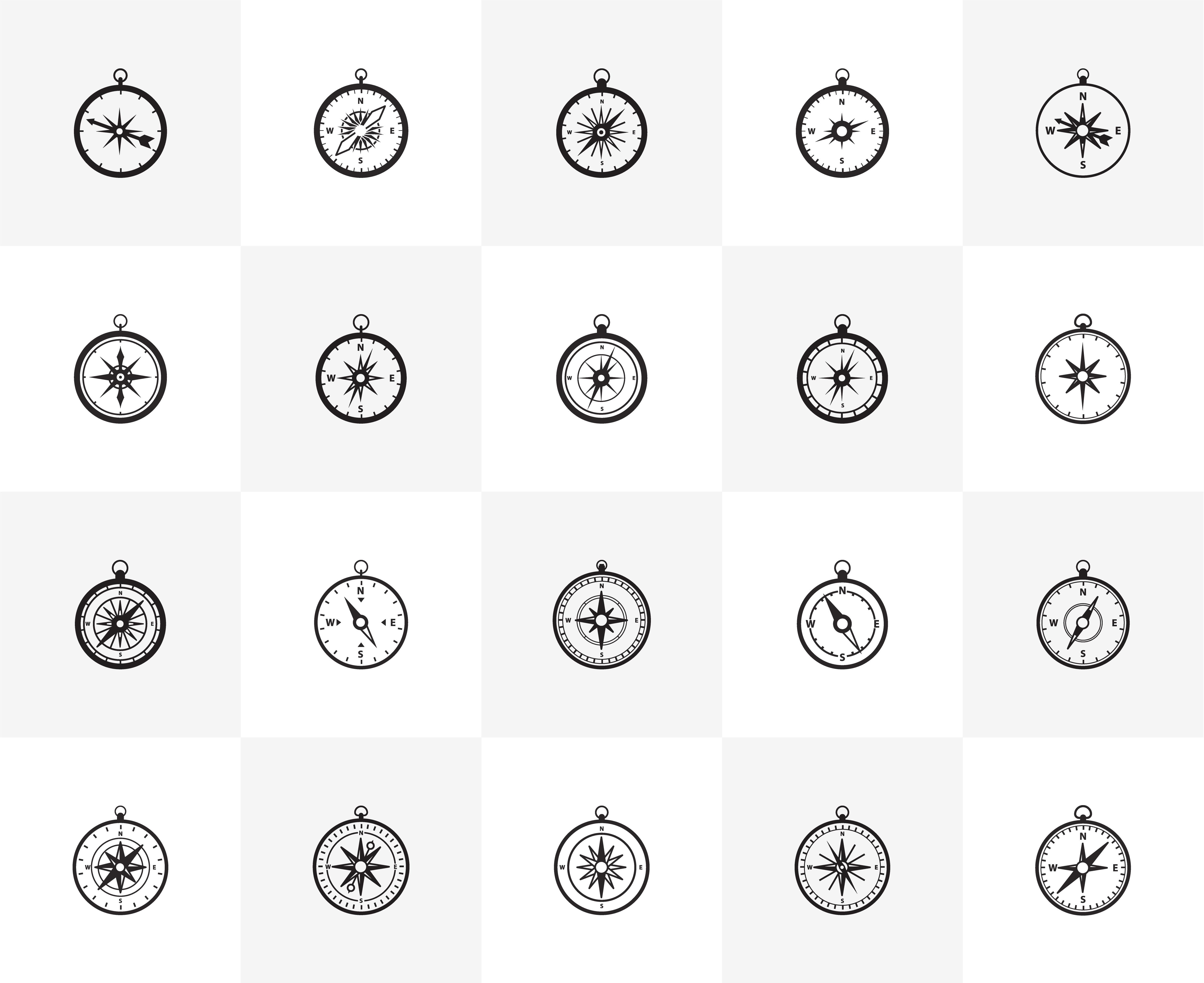 Navigation Icons Free Vector Art