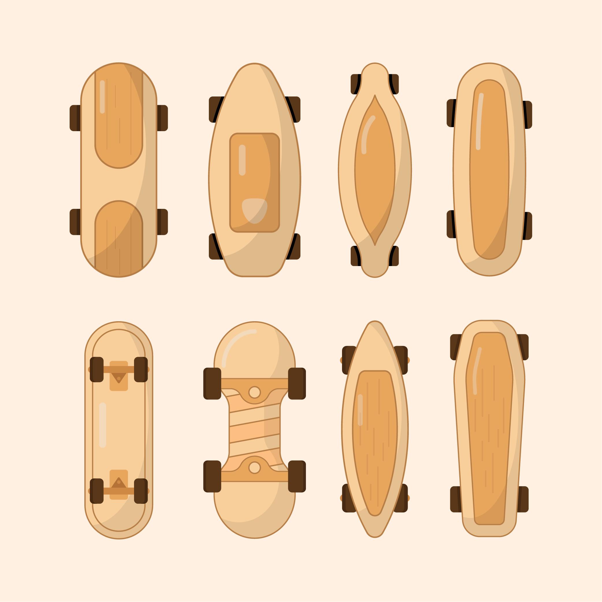 Skateboards Vector Free Download