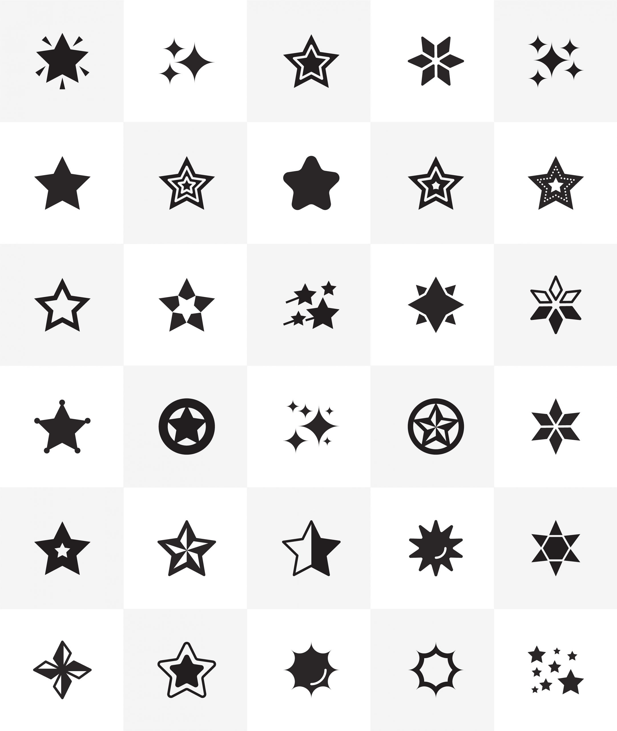 Star Shapes Icon Download
