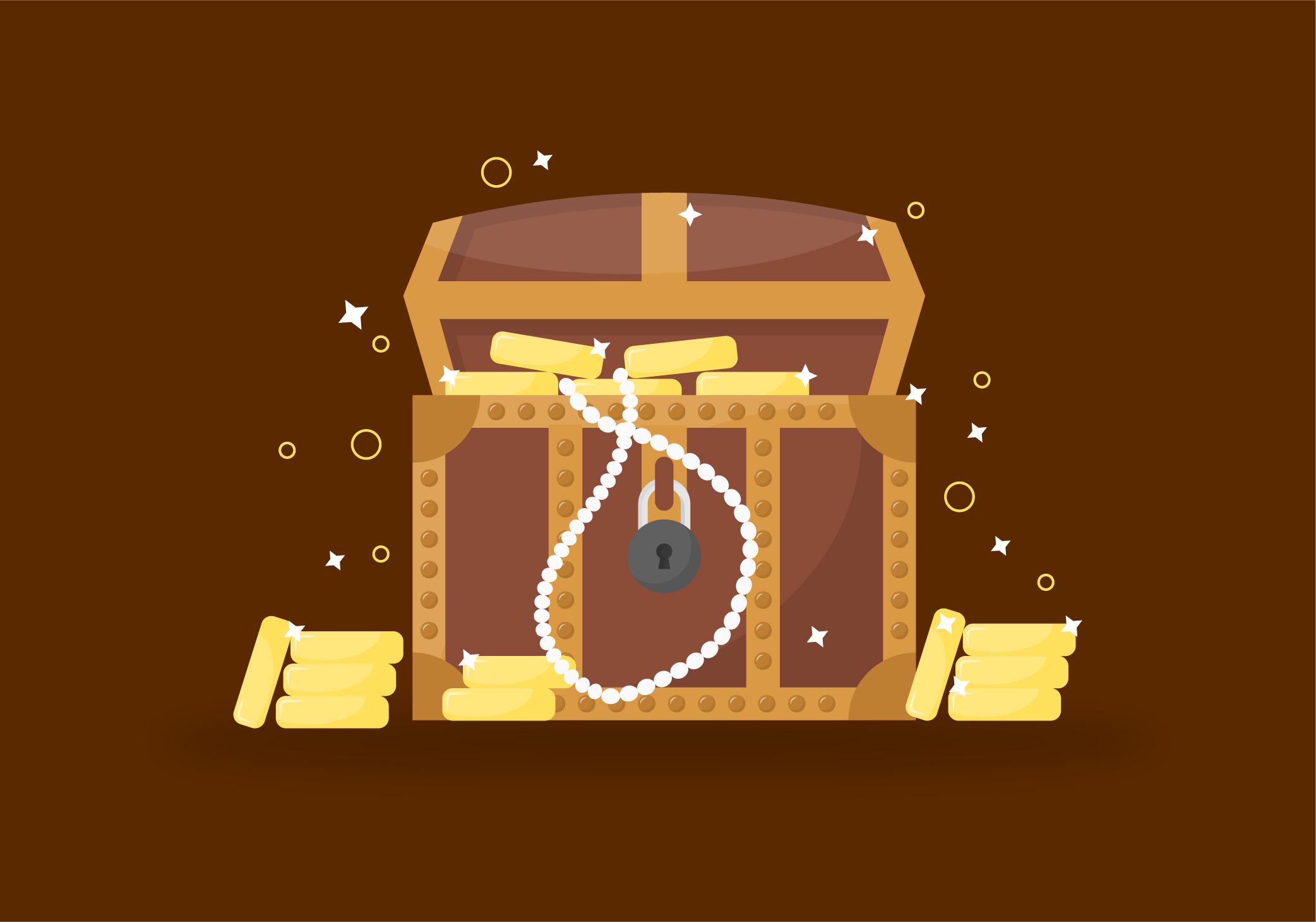 Treasure Chest Free Vector Art