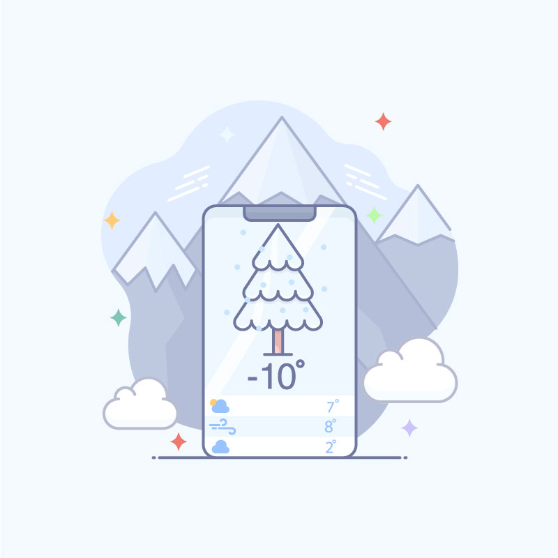 Weather App Vector Image