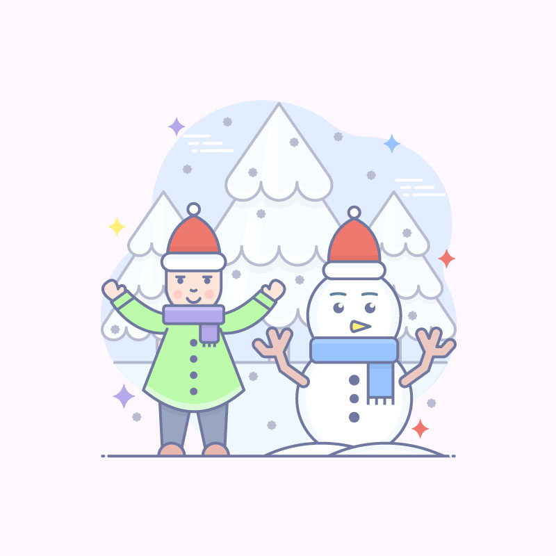 Winter Party Free Vector Art