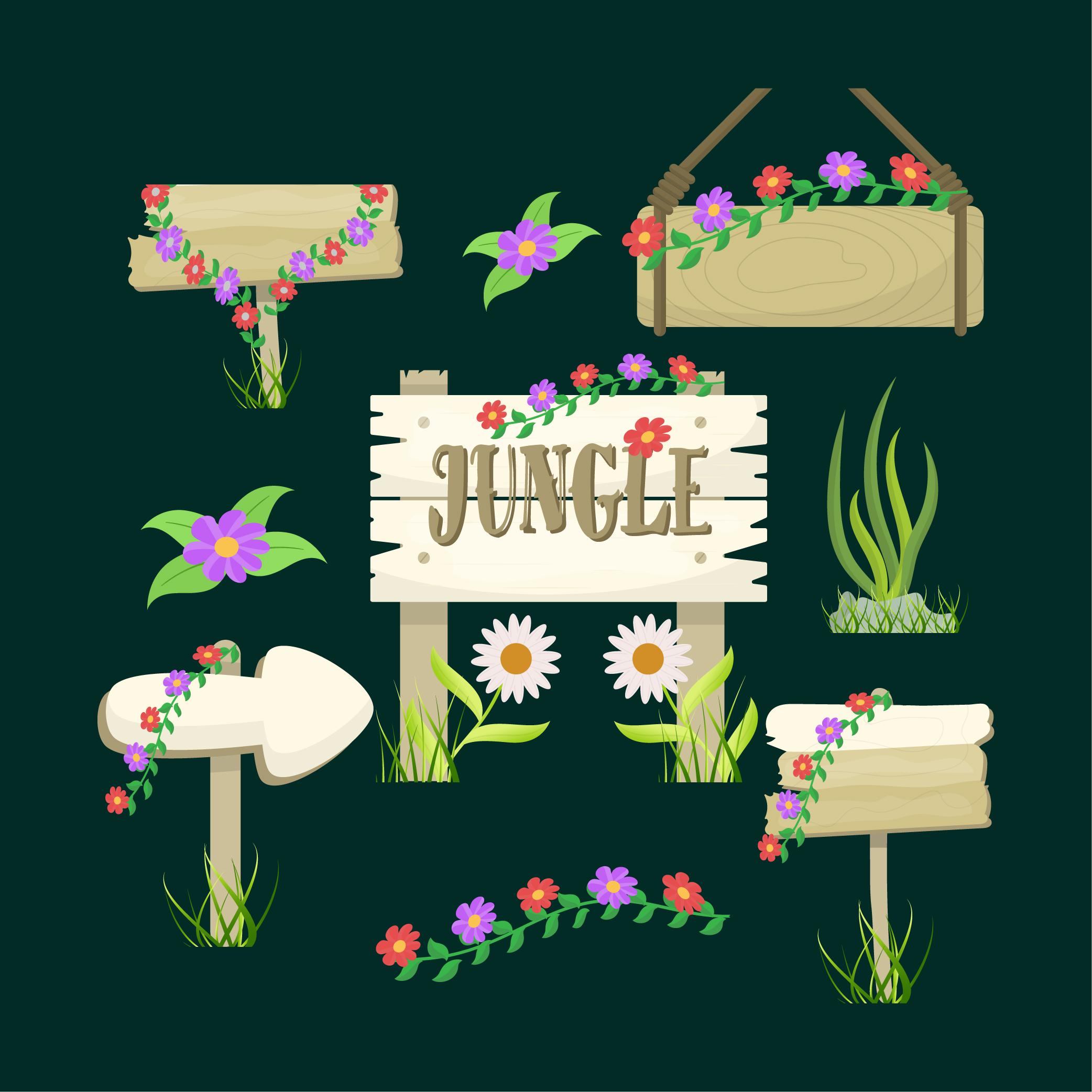 Jungle Direction Boards Icon Download