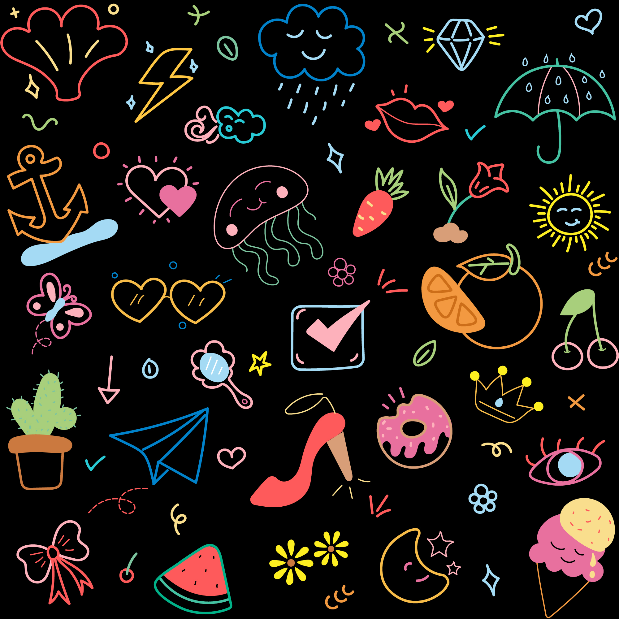 Colorful Doodles Vector