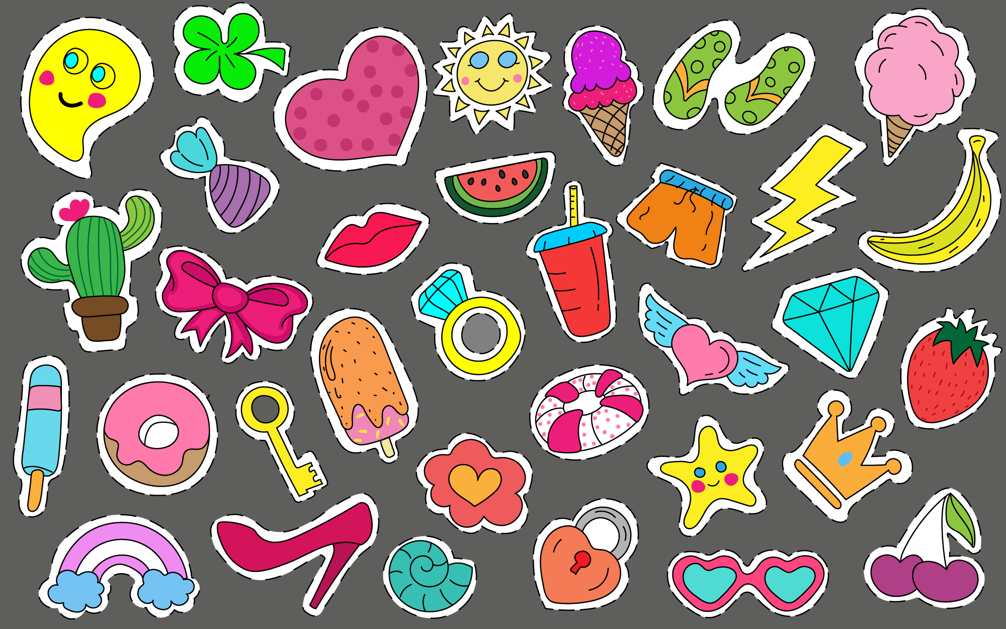 Cute Stickers and Patches Free Download