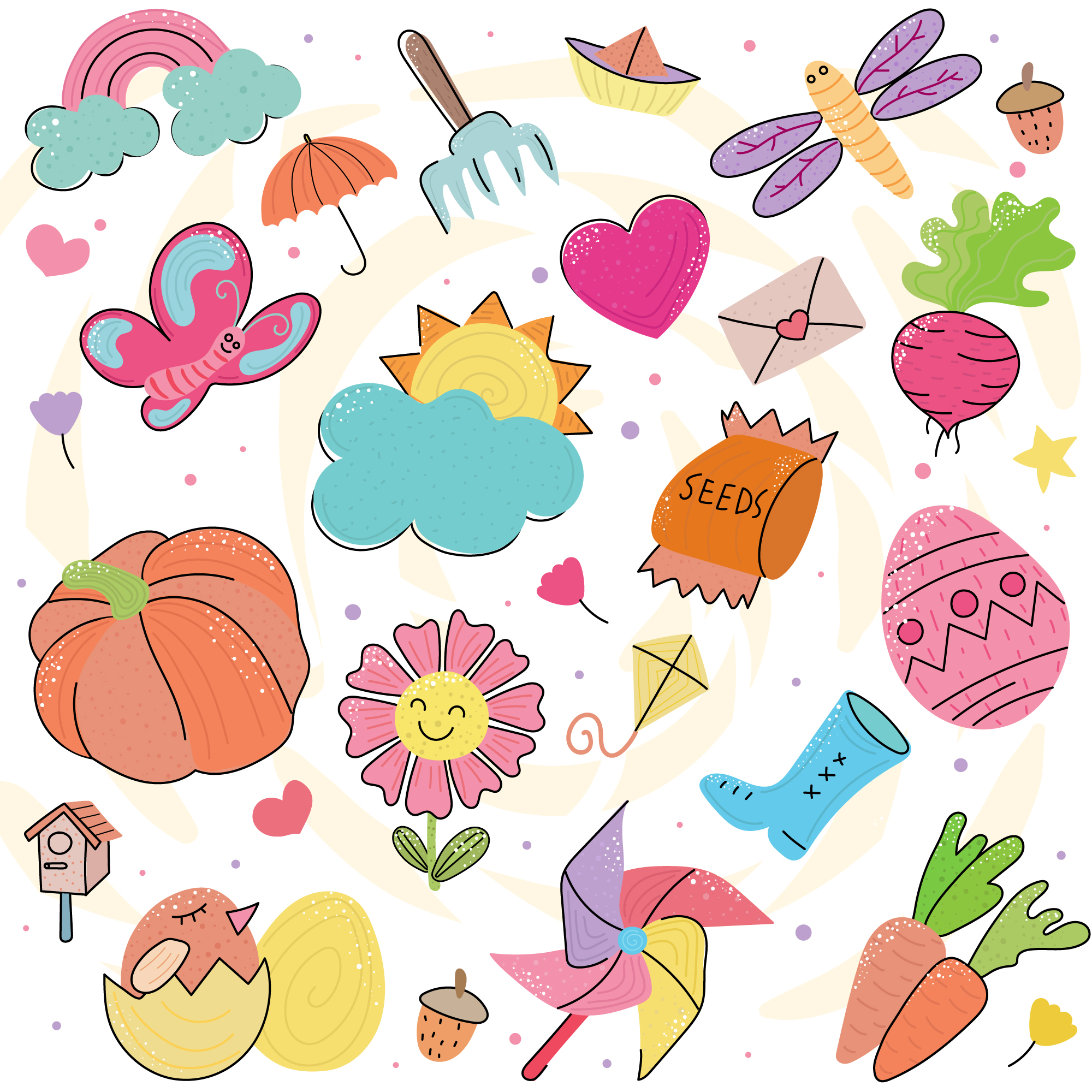 Spring Doodle Icons Download