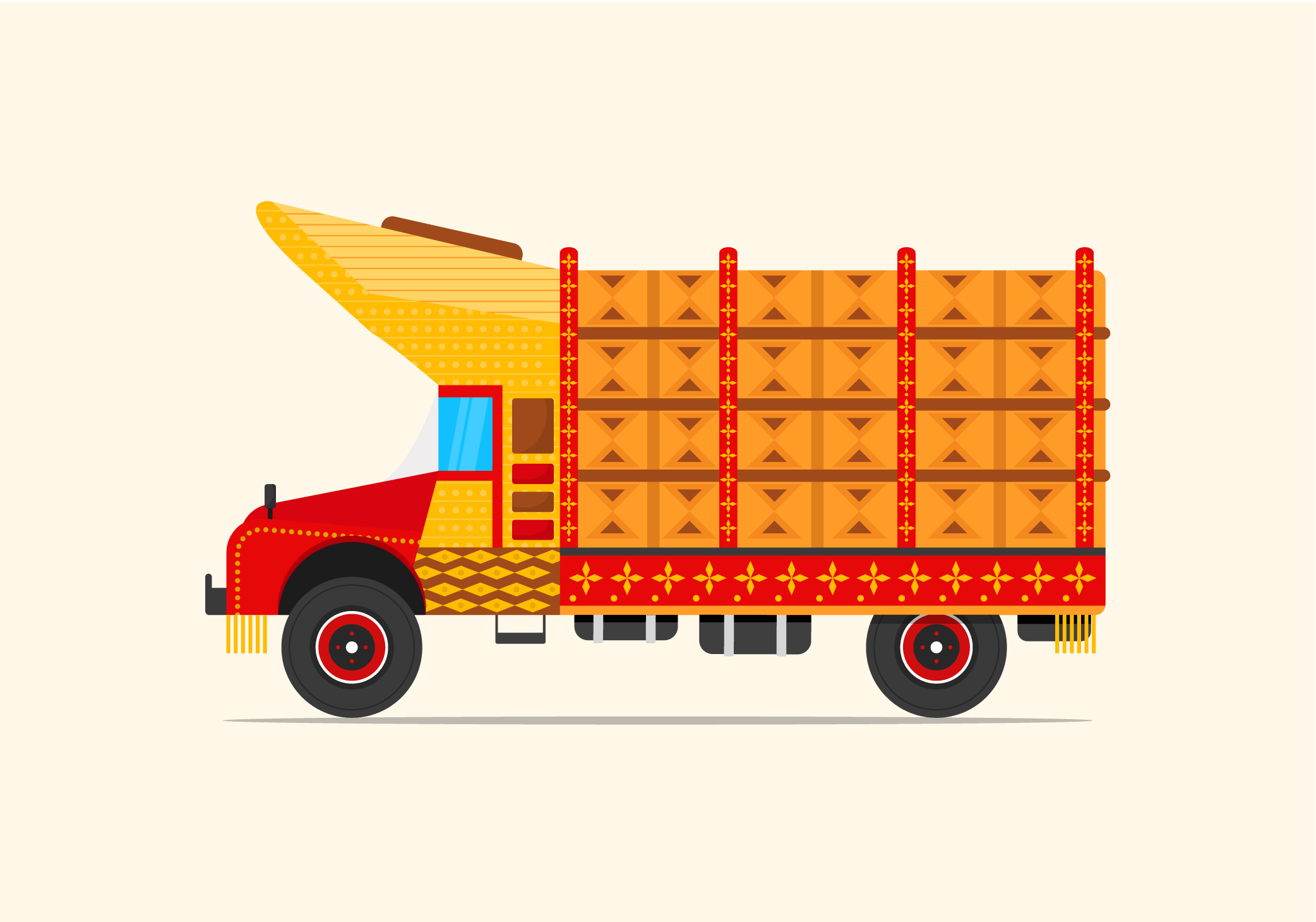 Retro Truck Image Vector