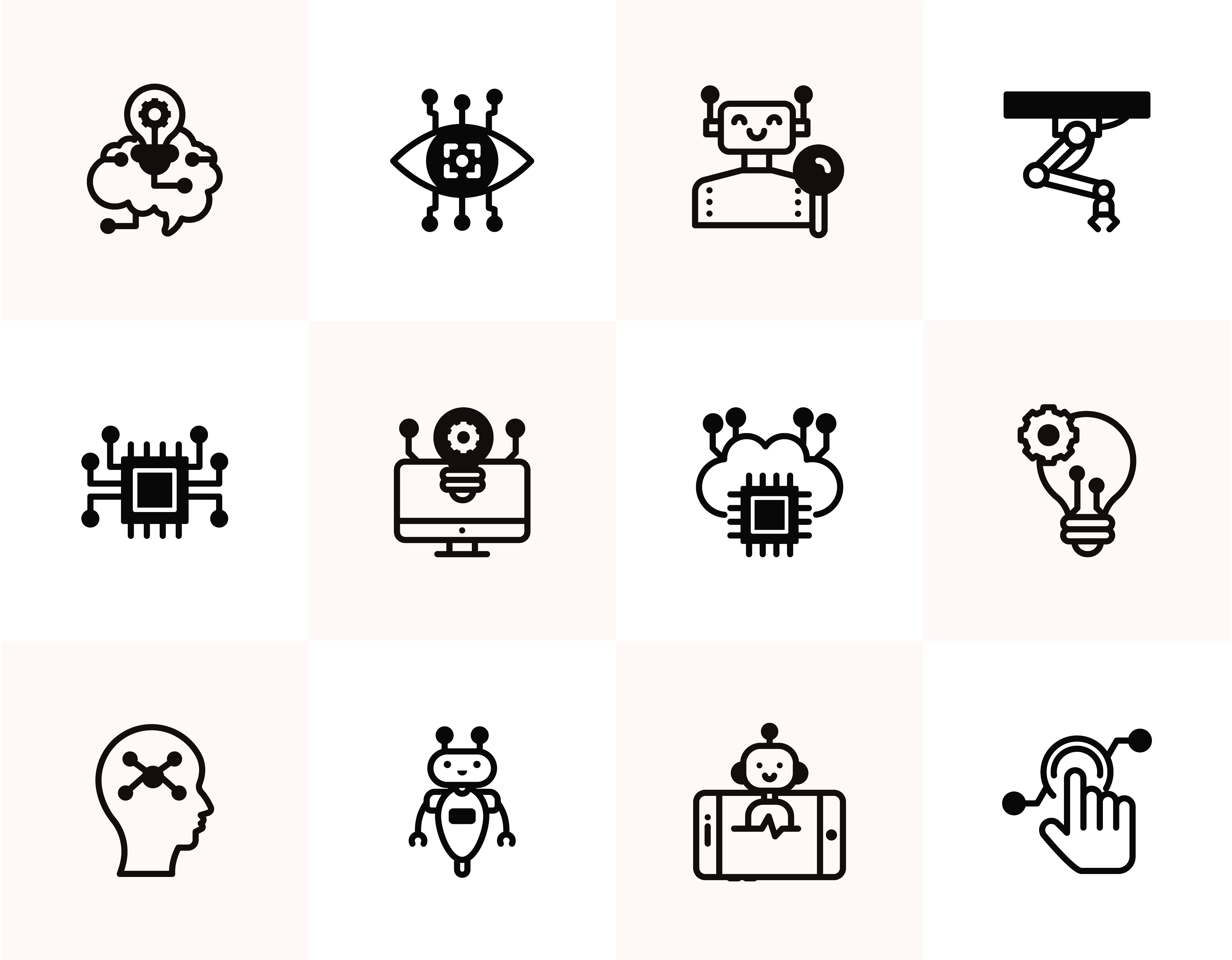 Artificial Intelligence Icons Free Download