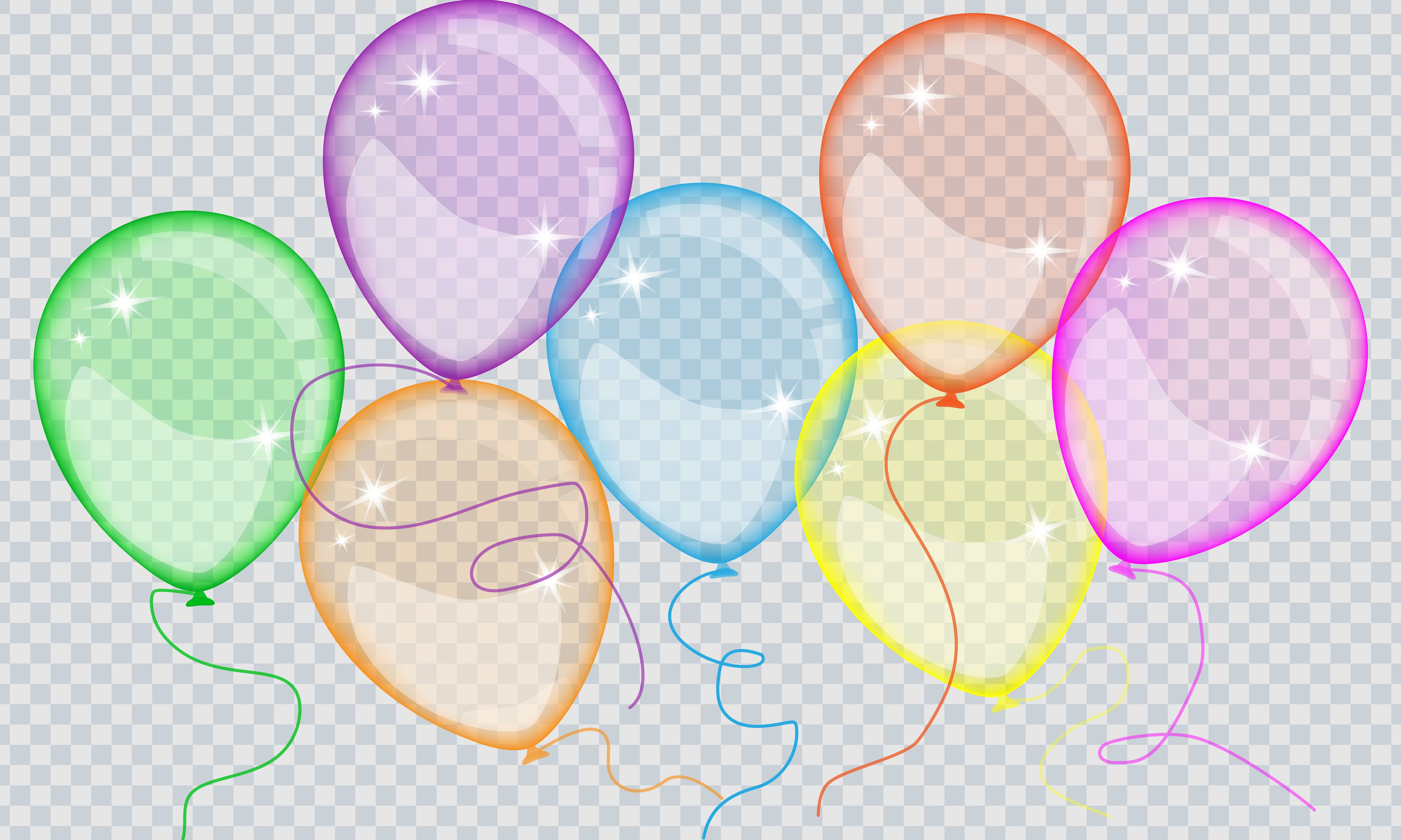 Balloons Transparent Background Free Vector Download