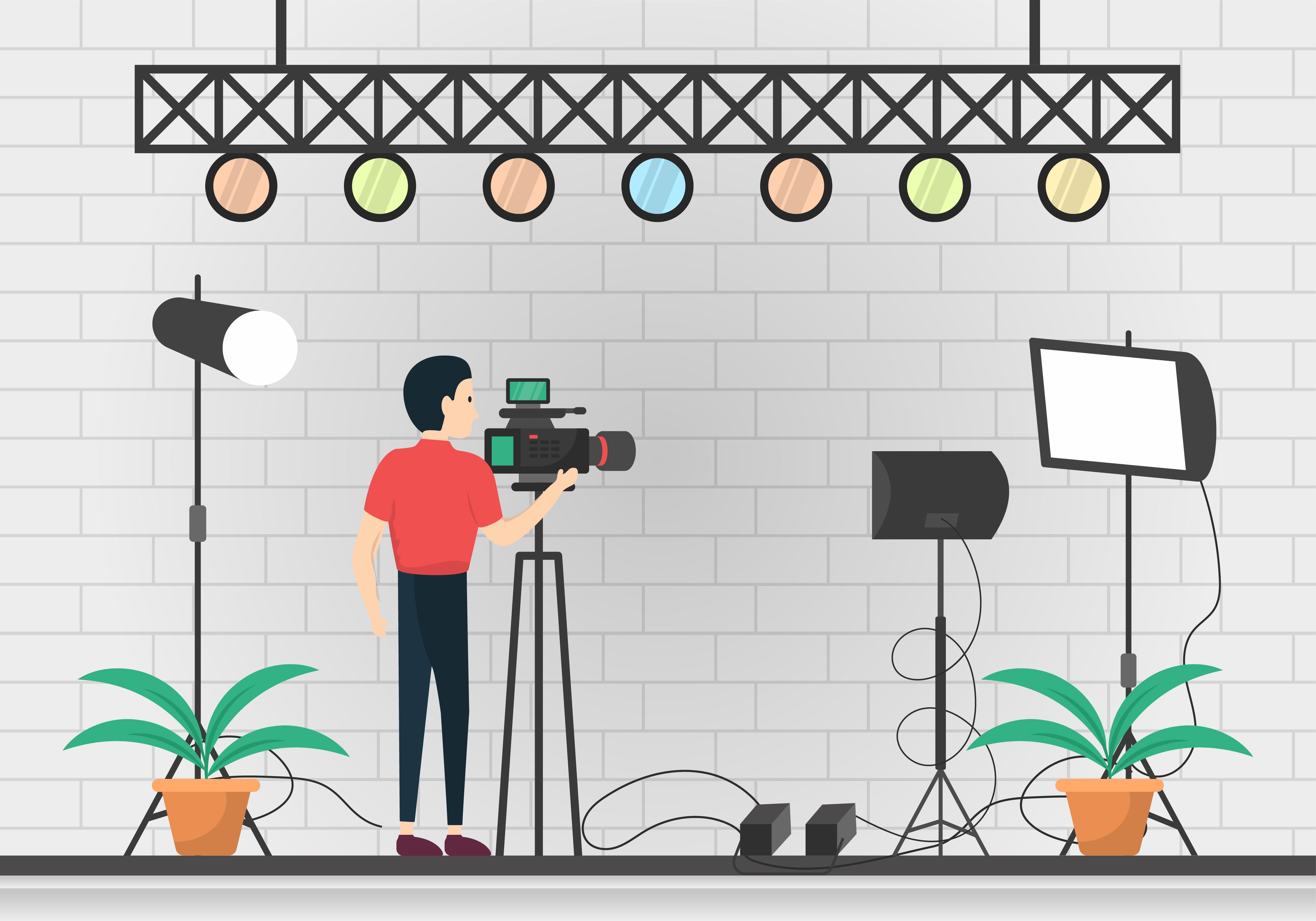 Cameraman Vector Free Download