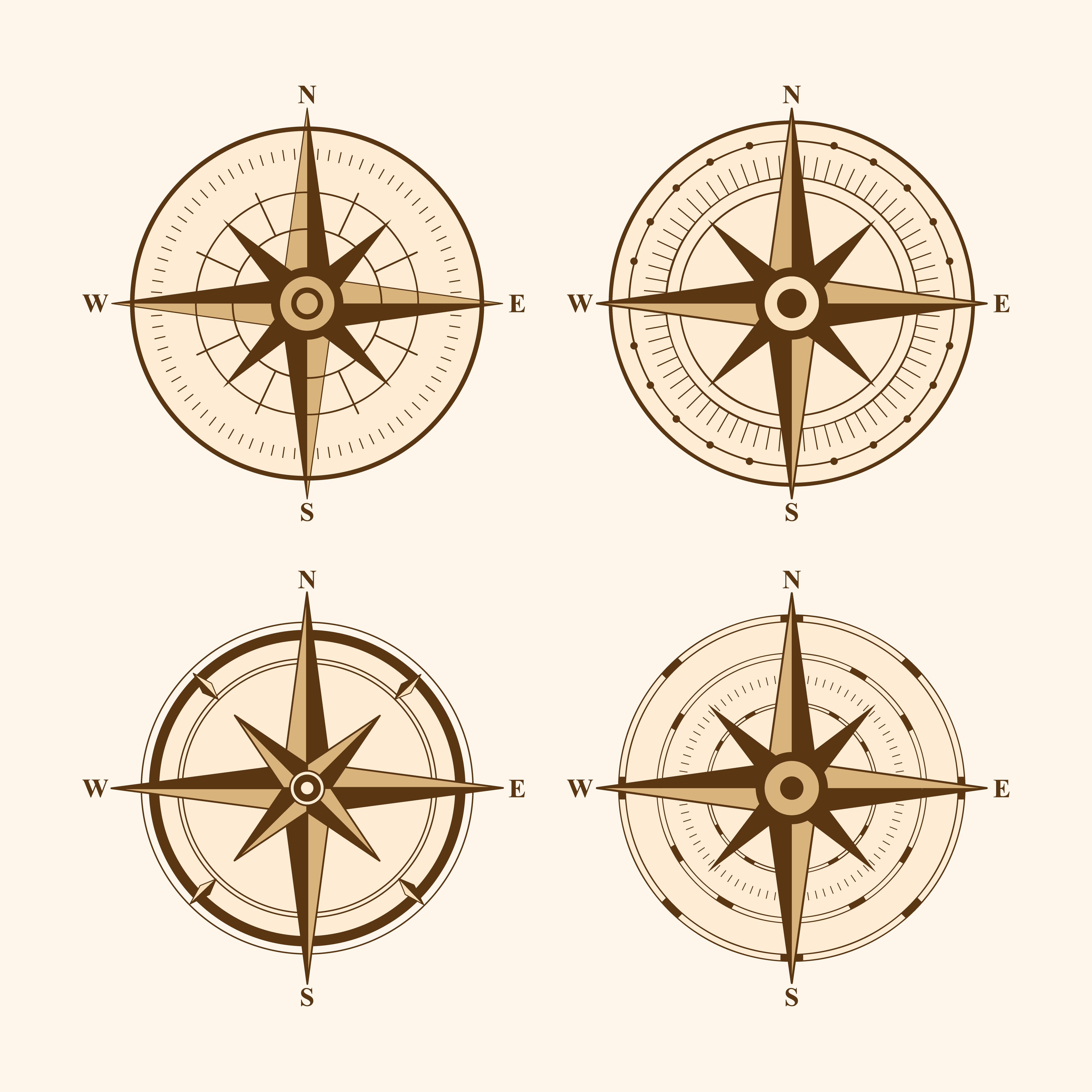 Compass Vectors Free Download