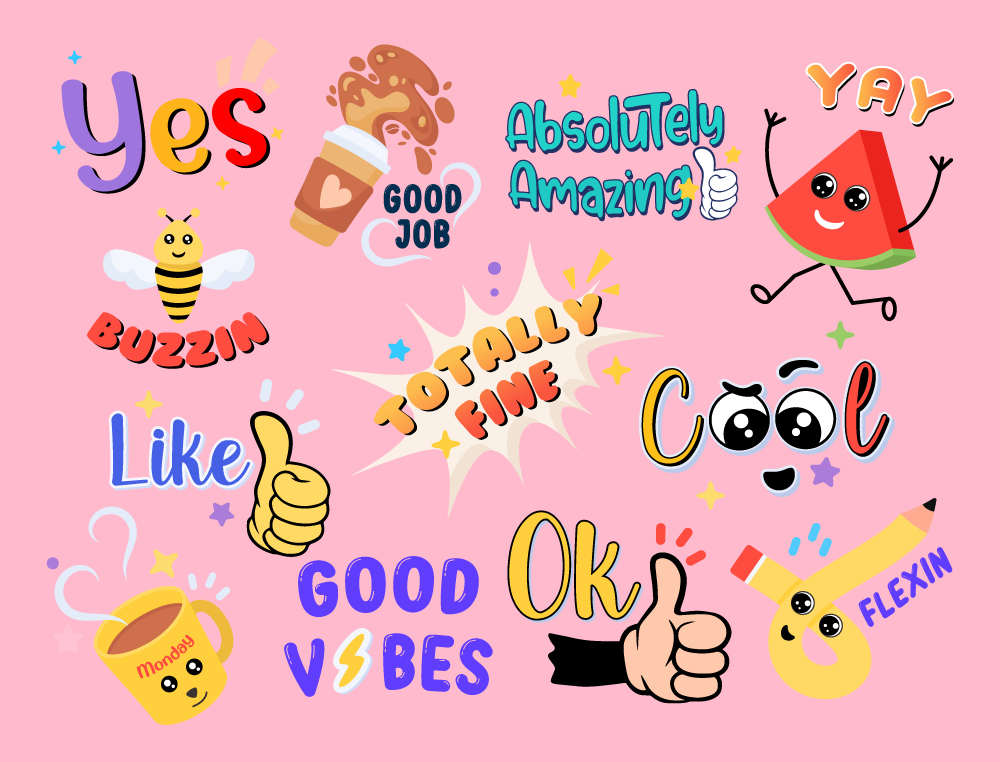 Download Cute Stickers Collection for Free