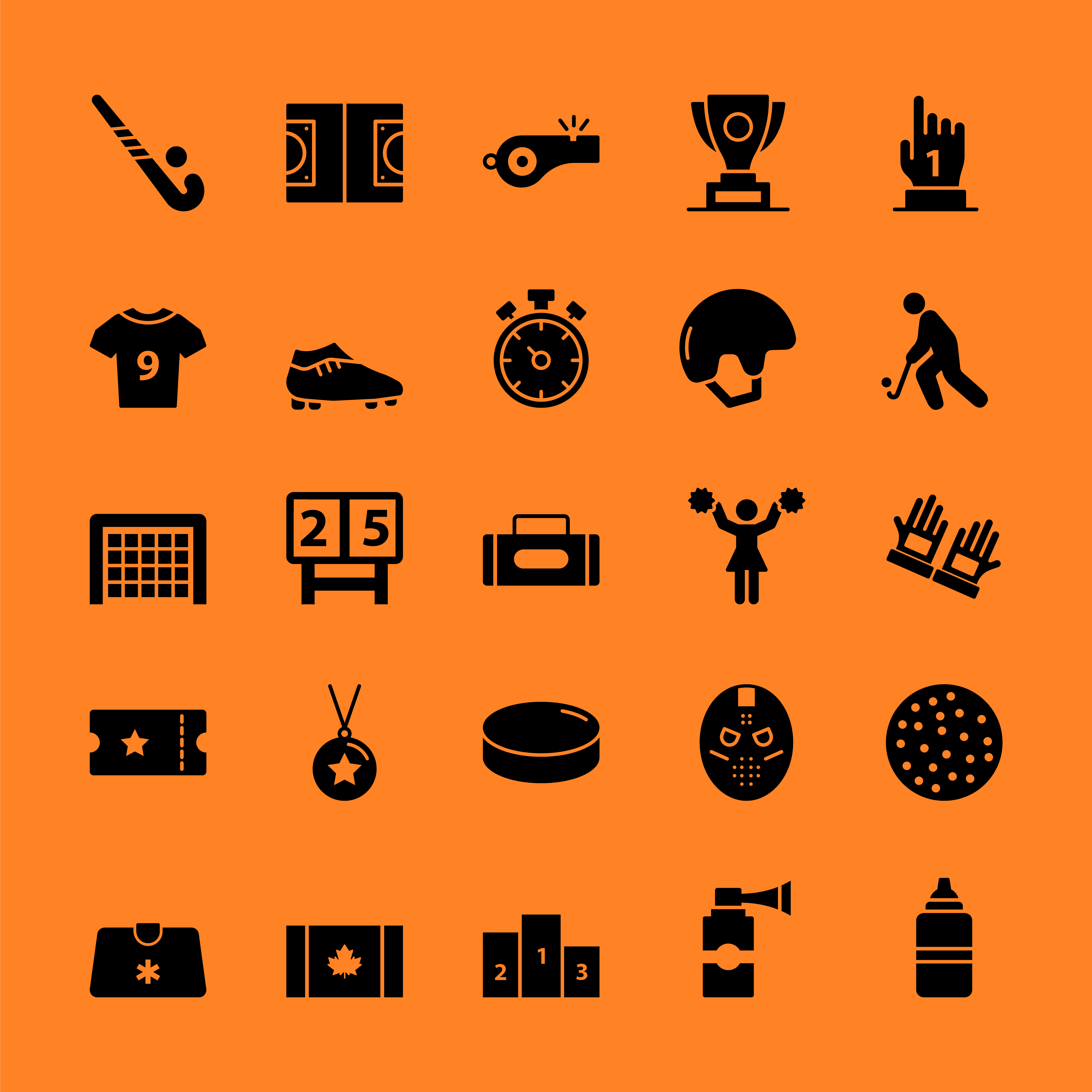 Field Hockey Icons Free Download