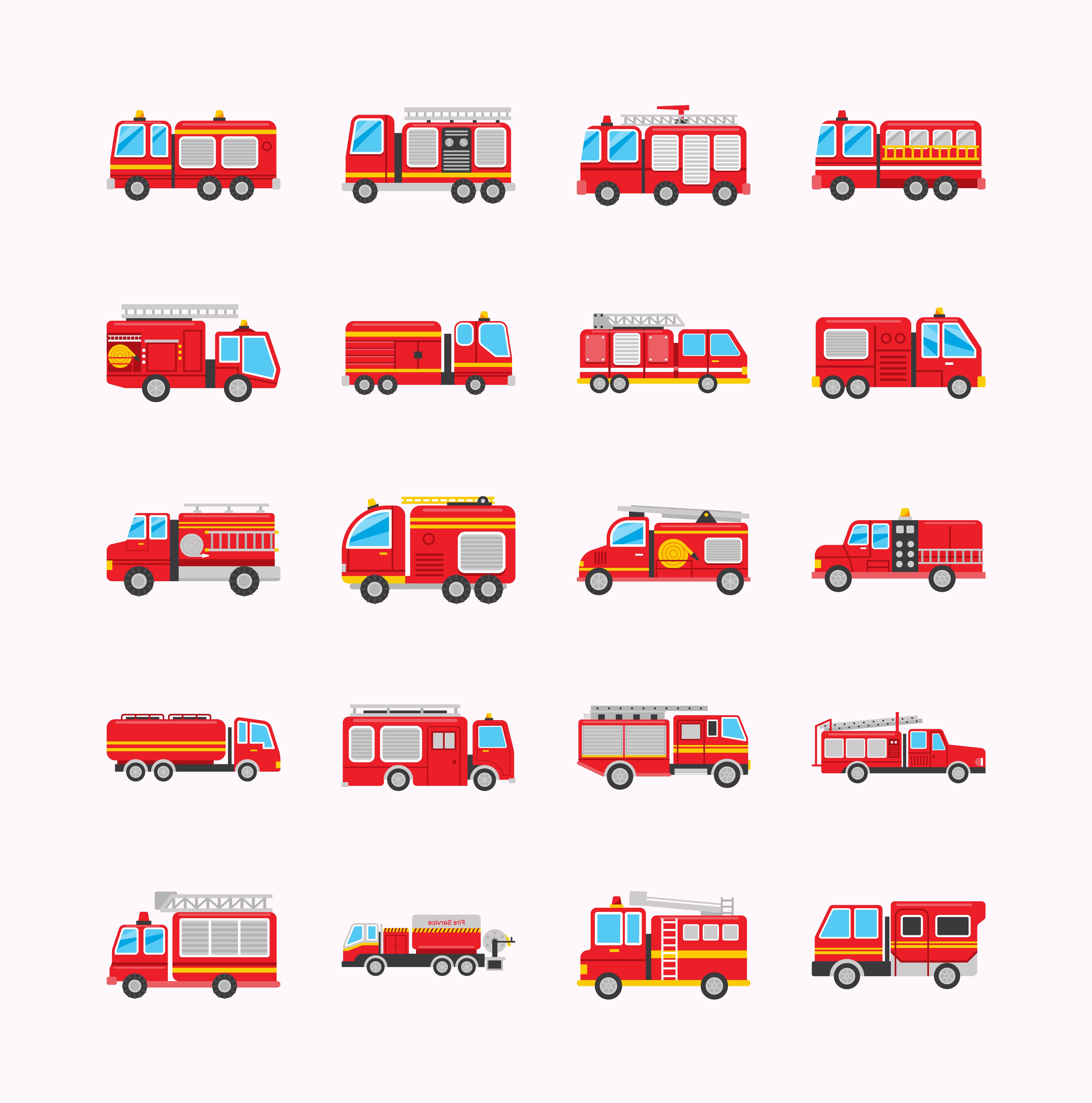 Fire Truck Vectors Download