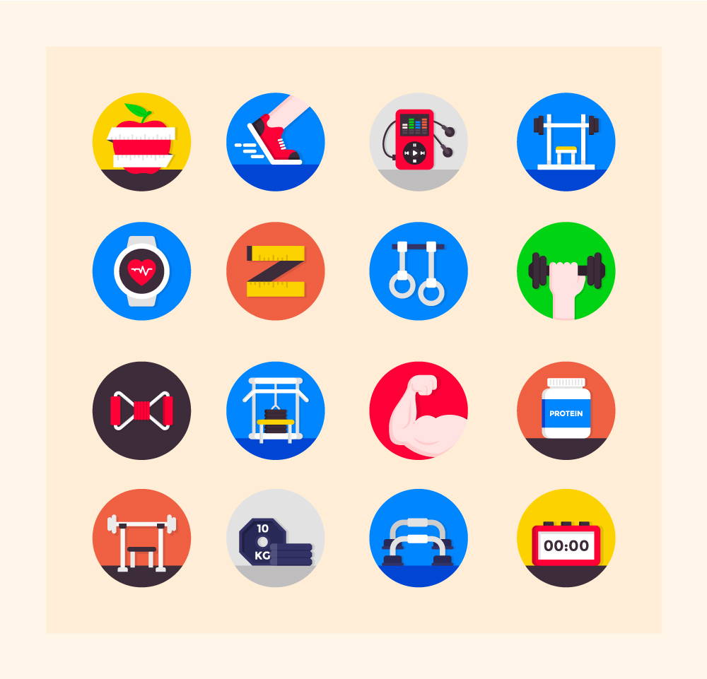 Fitness Icons Free Download