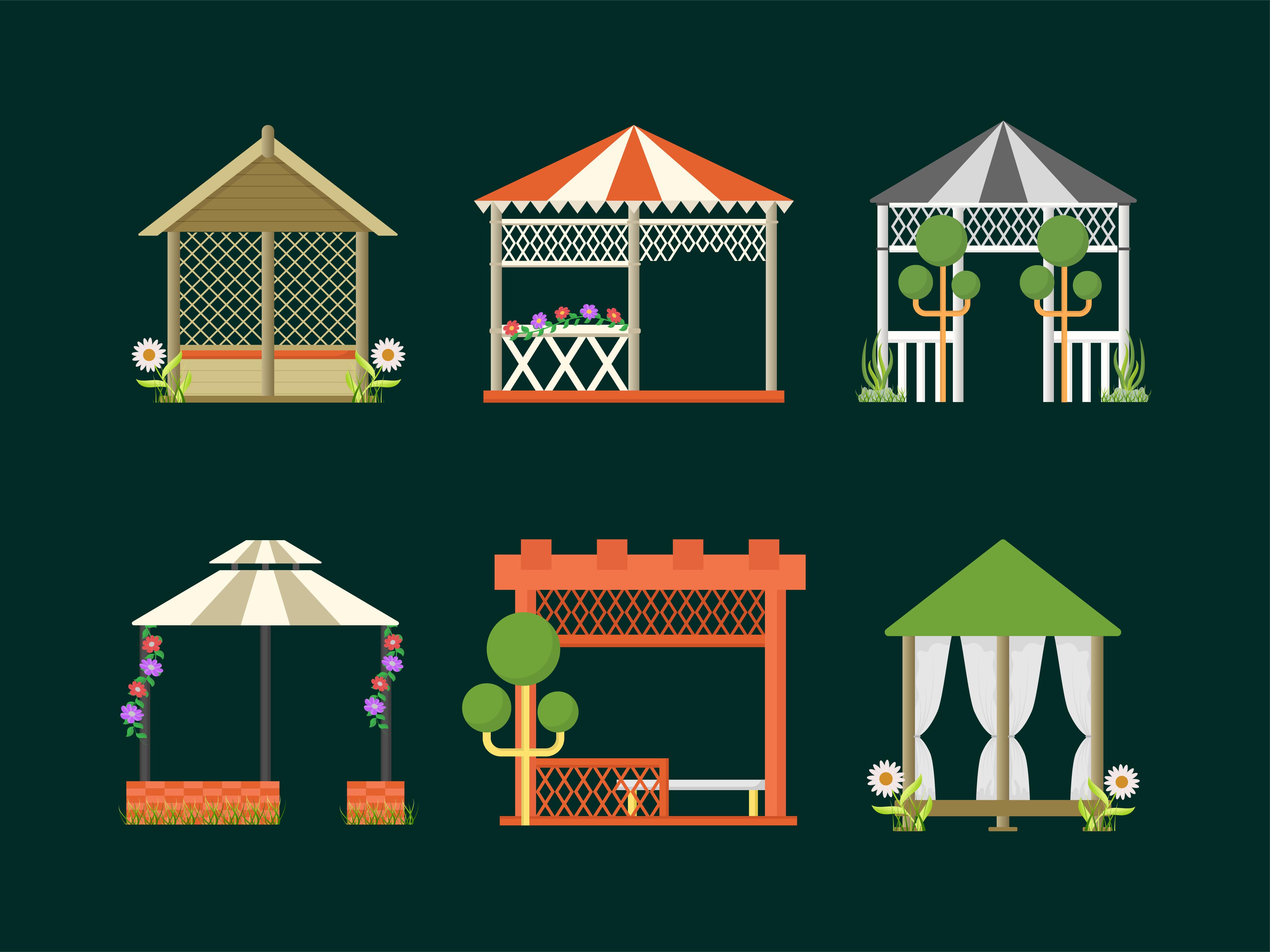 Garden Bower Vectors Free Download