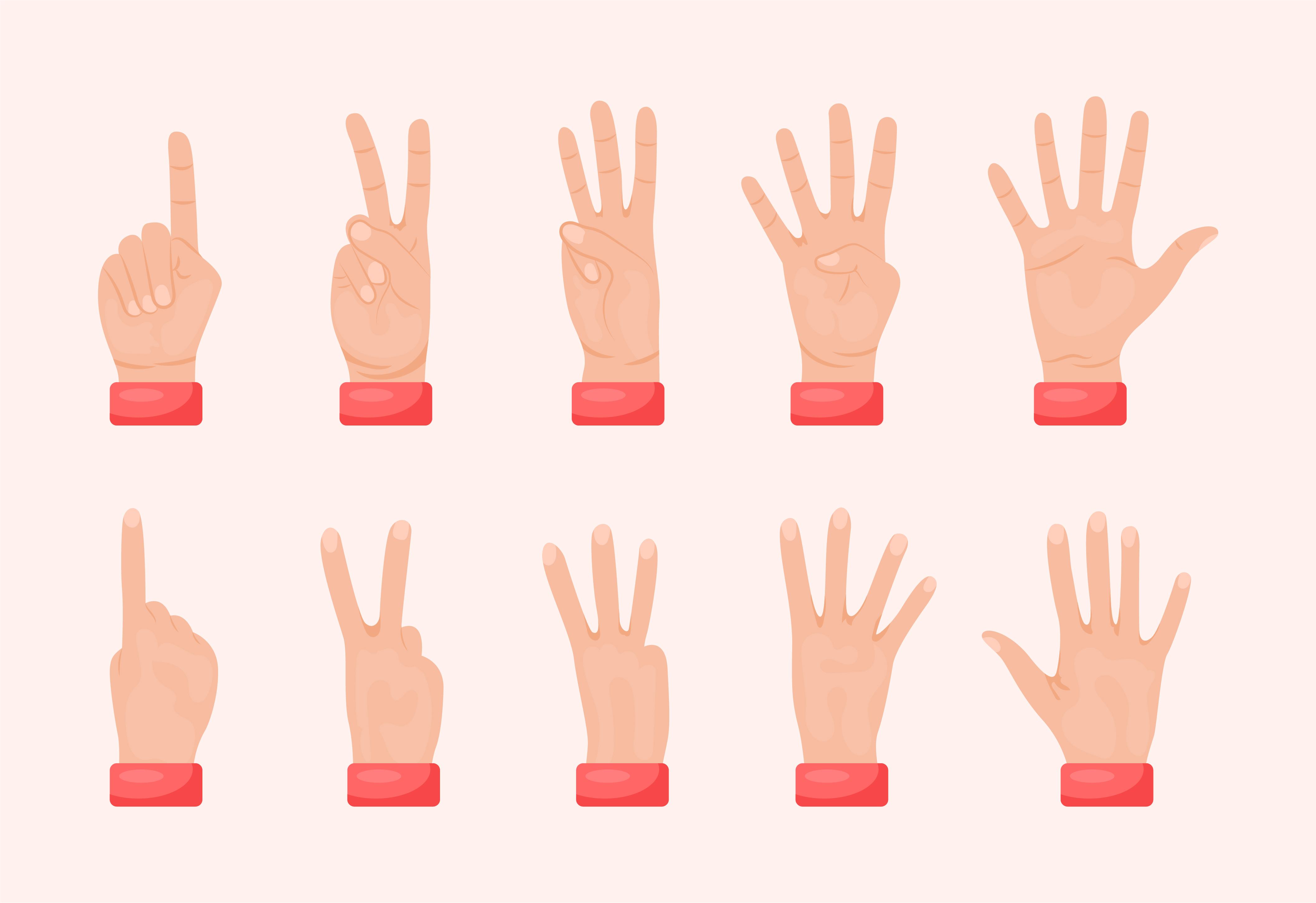 Hands Gestures Free Vector Art