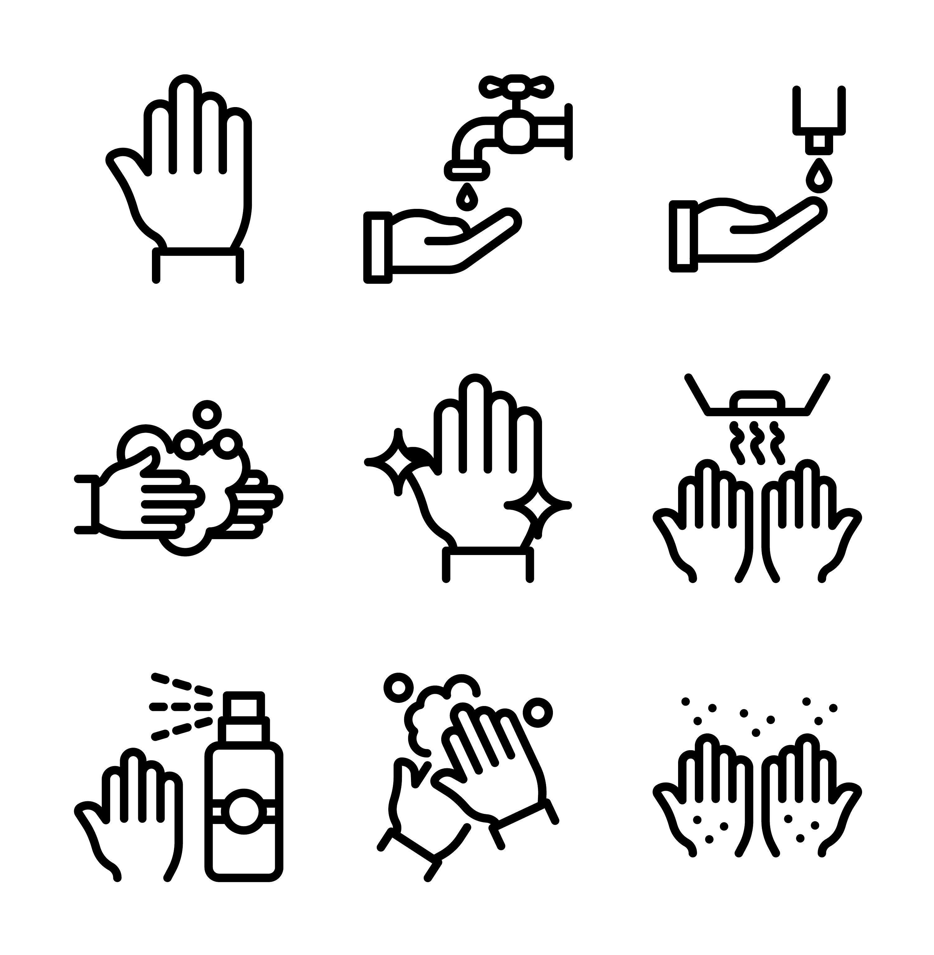 Washing Hands Vectors Download