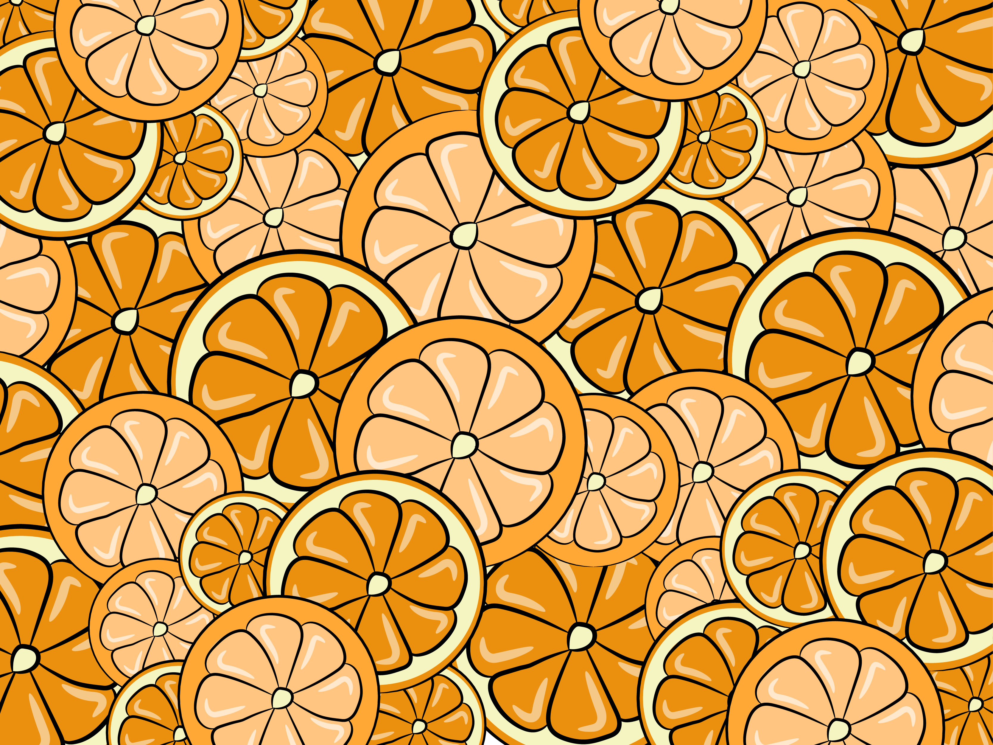 Orange Background Free Vector Art