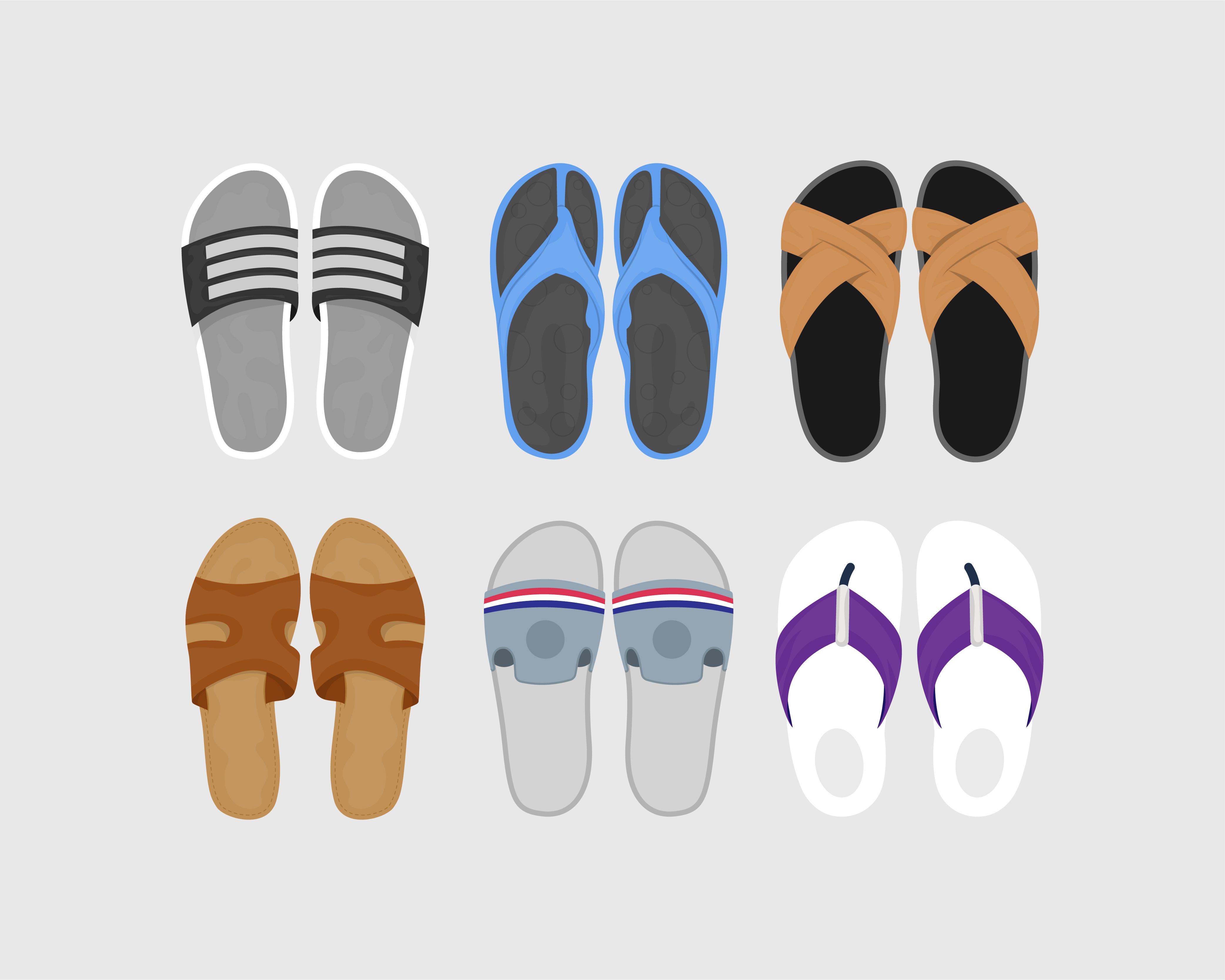 Summer Shoes Vector Download