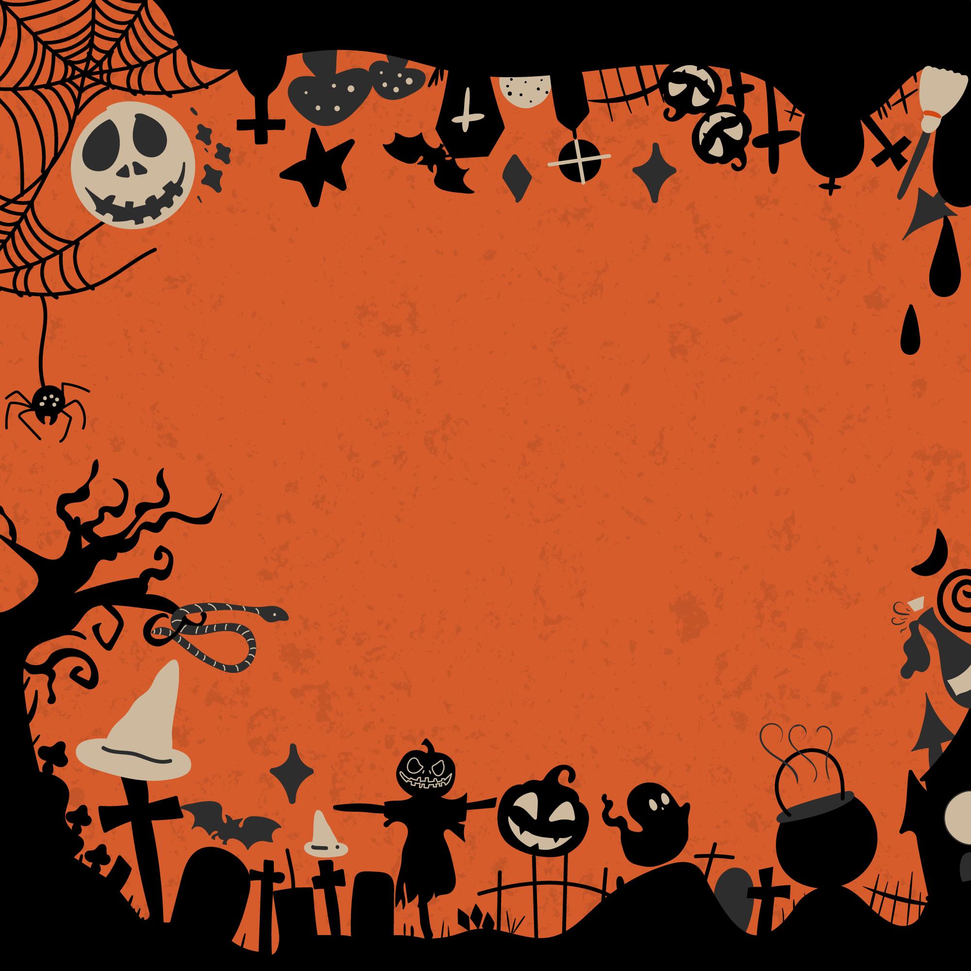 Halloween Wallpaper Free Vector Art