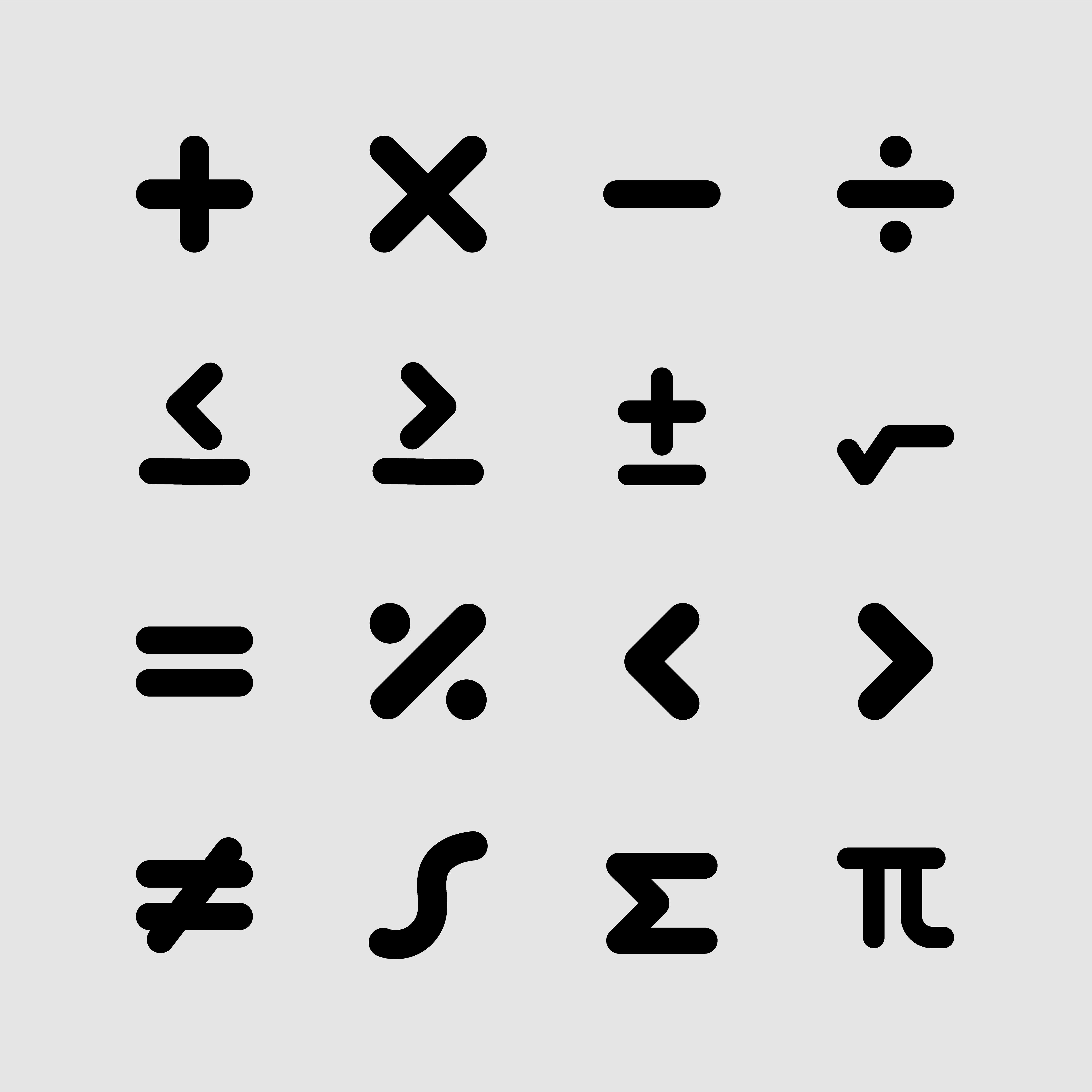 Free Math Symbols Icons