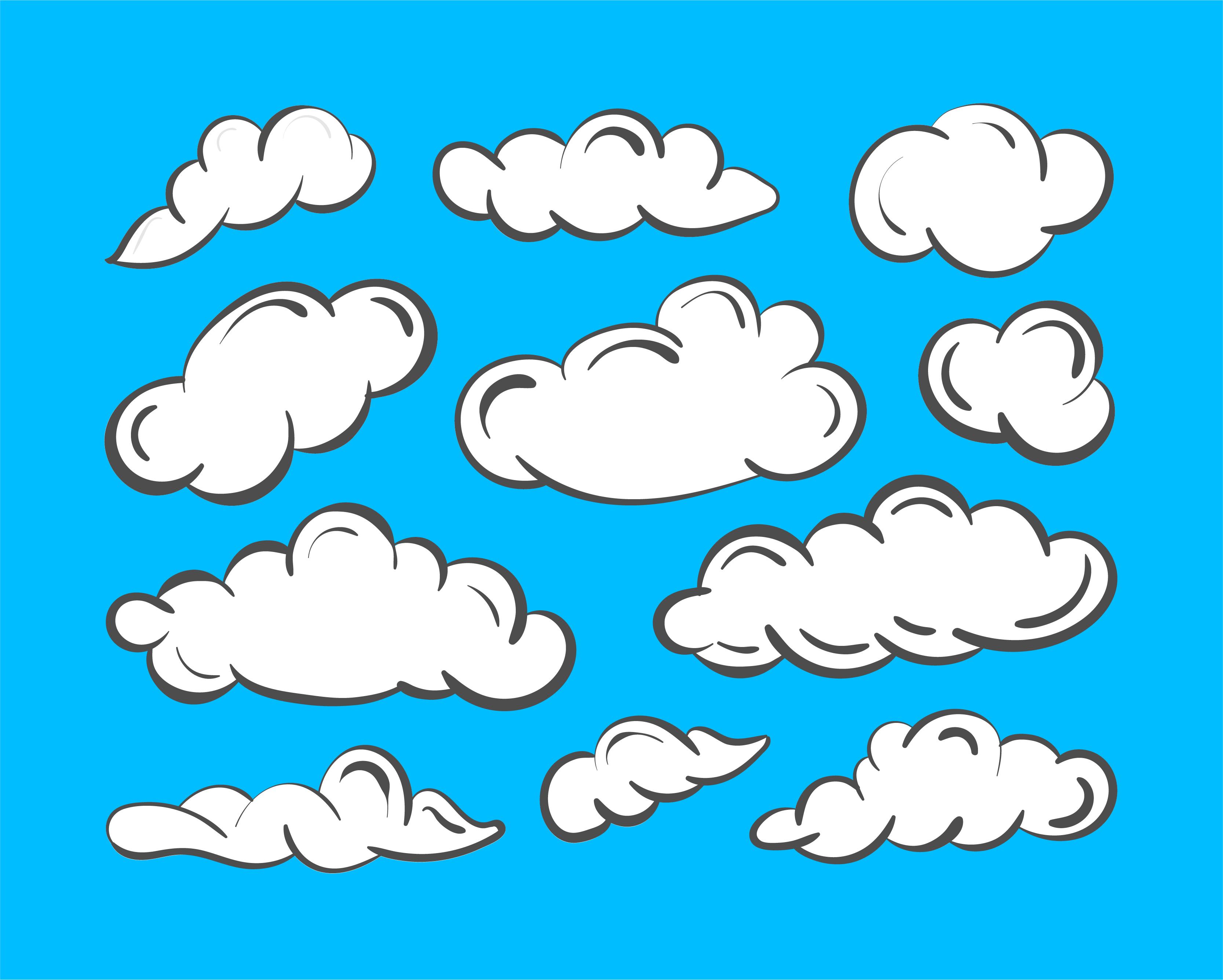 Cloud Icons Free Art