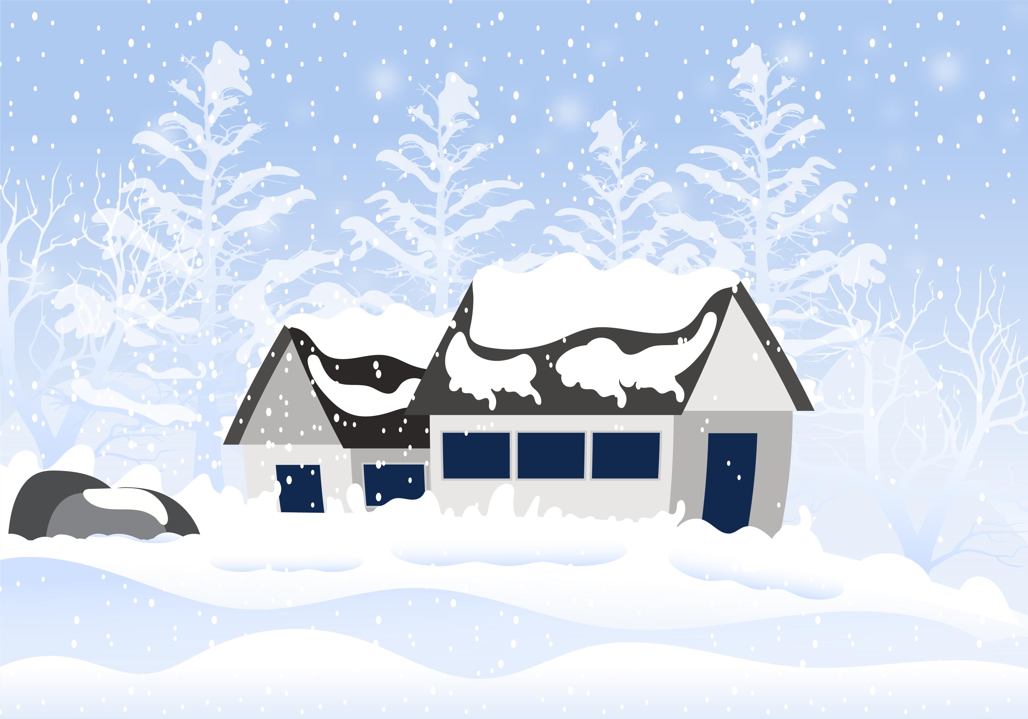 Snow Background Free Vector Art