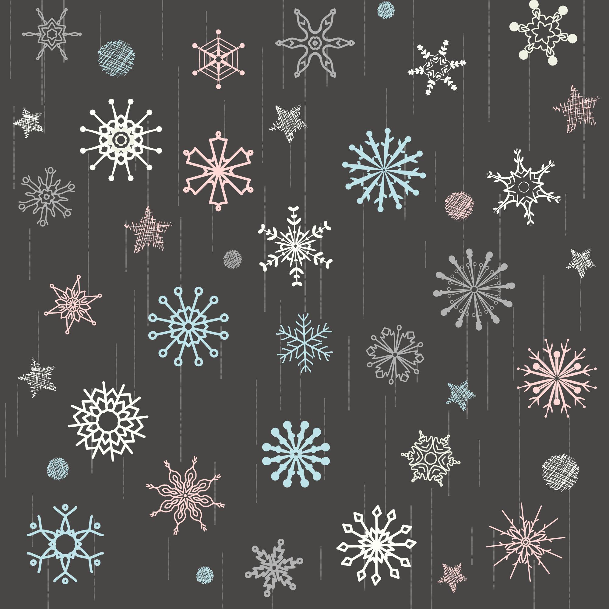 Snowflake Doodle Free Vector Art