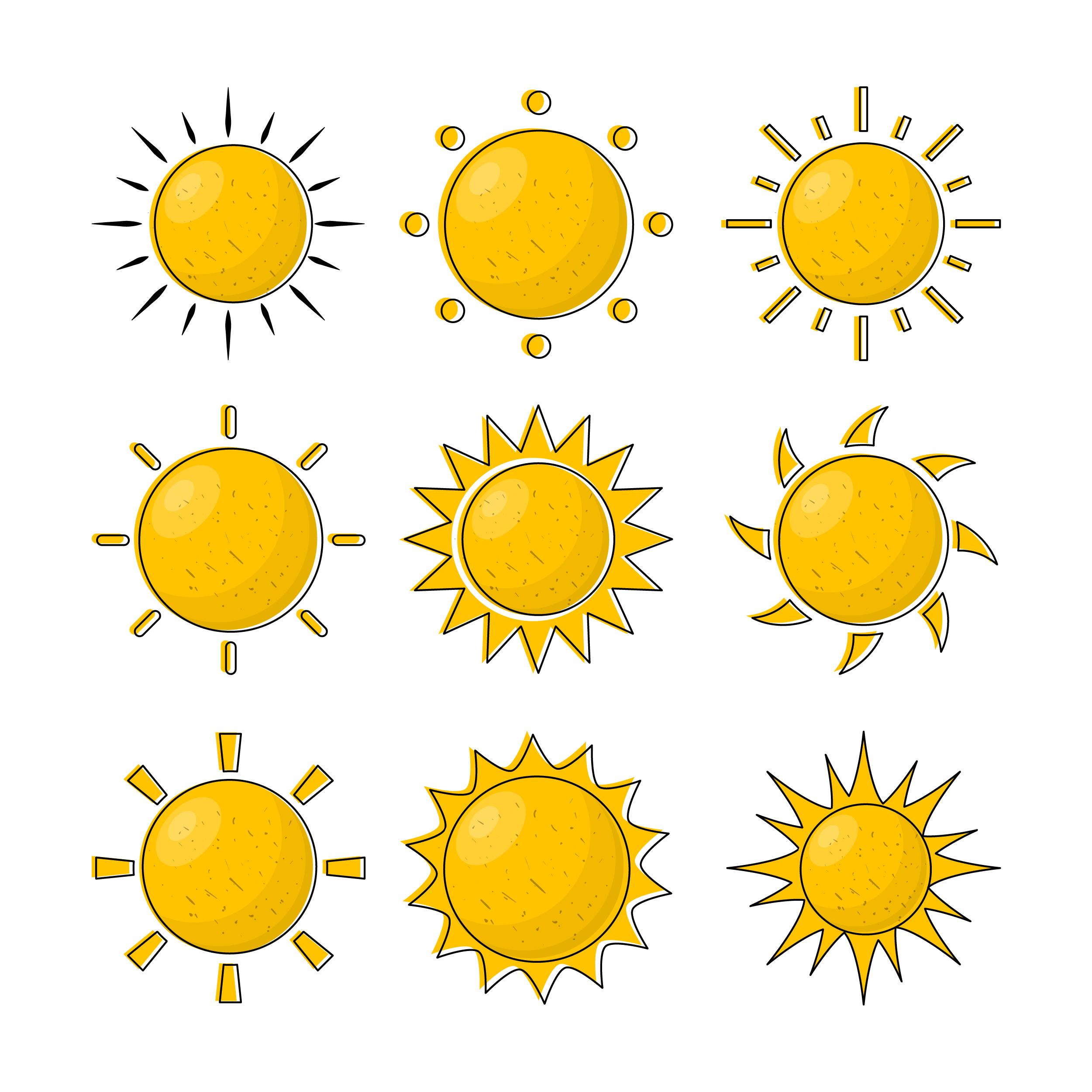 Suns Vector Free Art