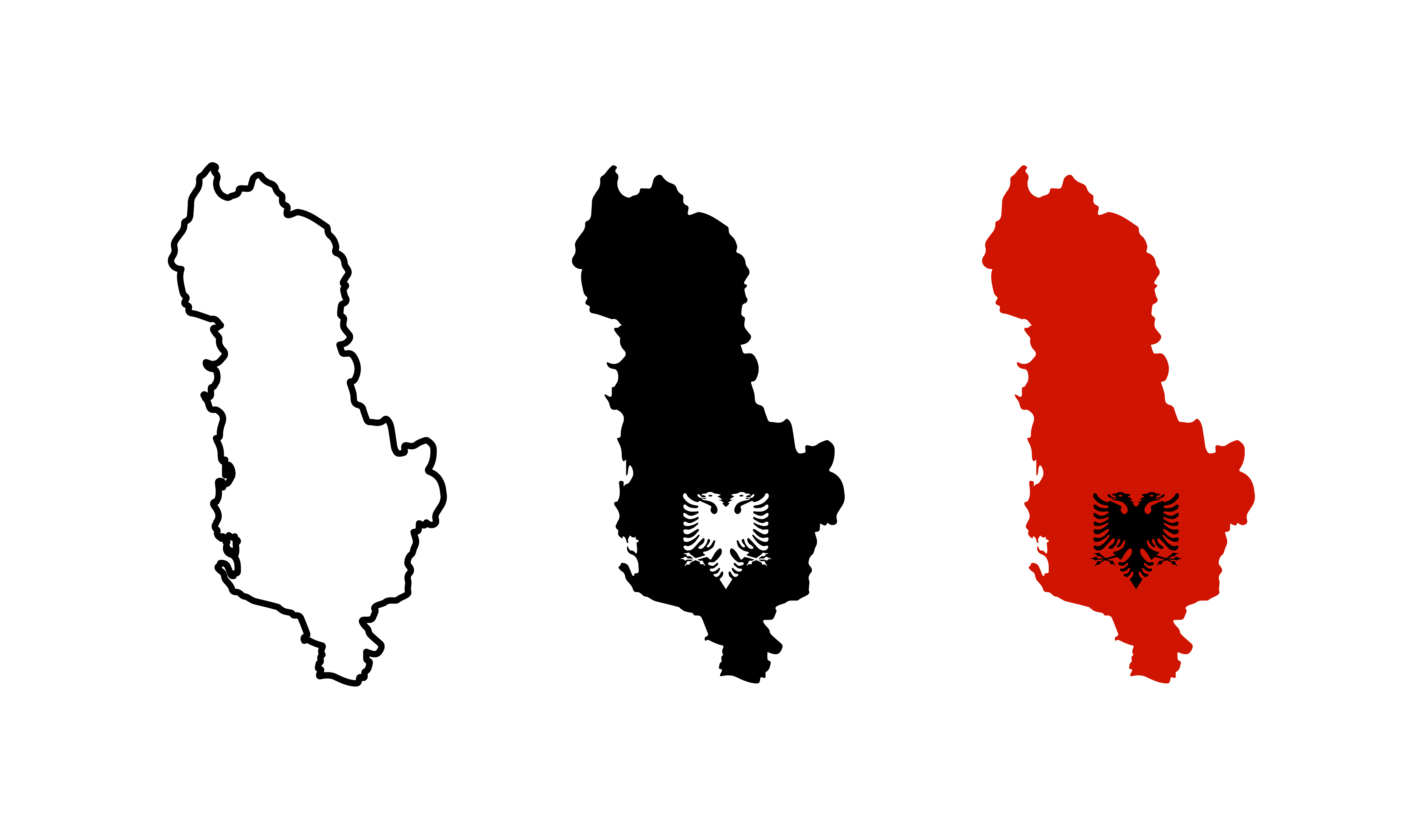 Albania Map Free Vector Art