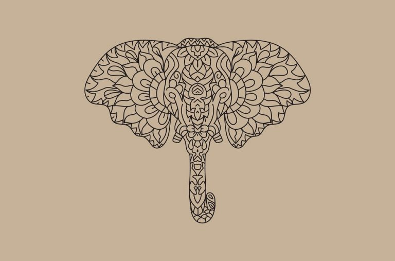 Decorative Elephant Vector Download
