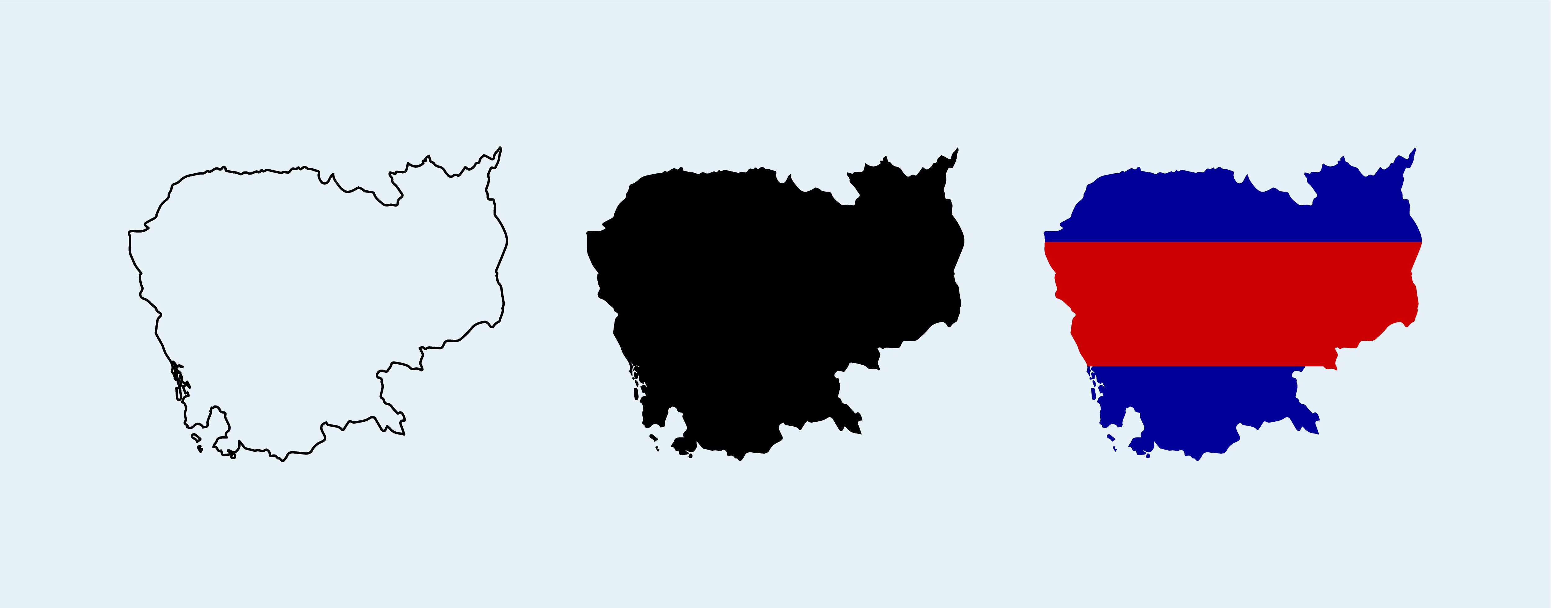 Cambodia Map Free Vector Art