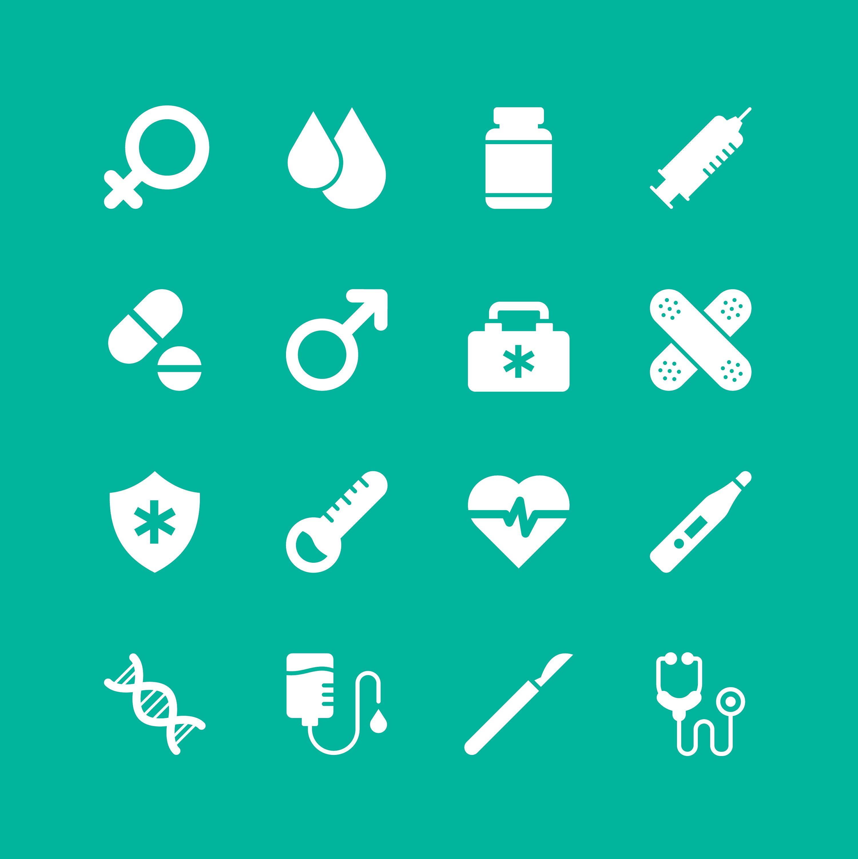 Medical Symbols Free Vector Art