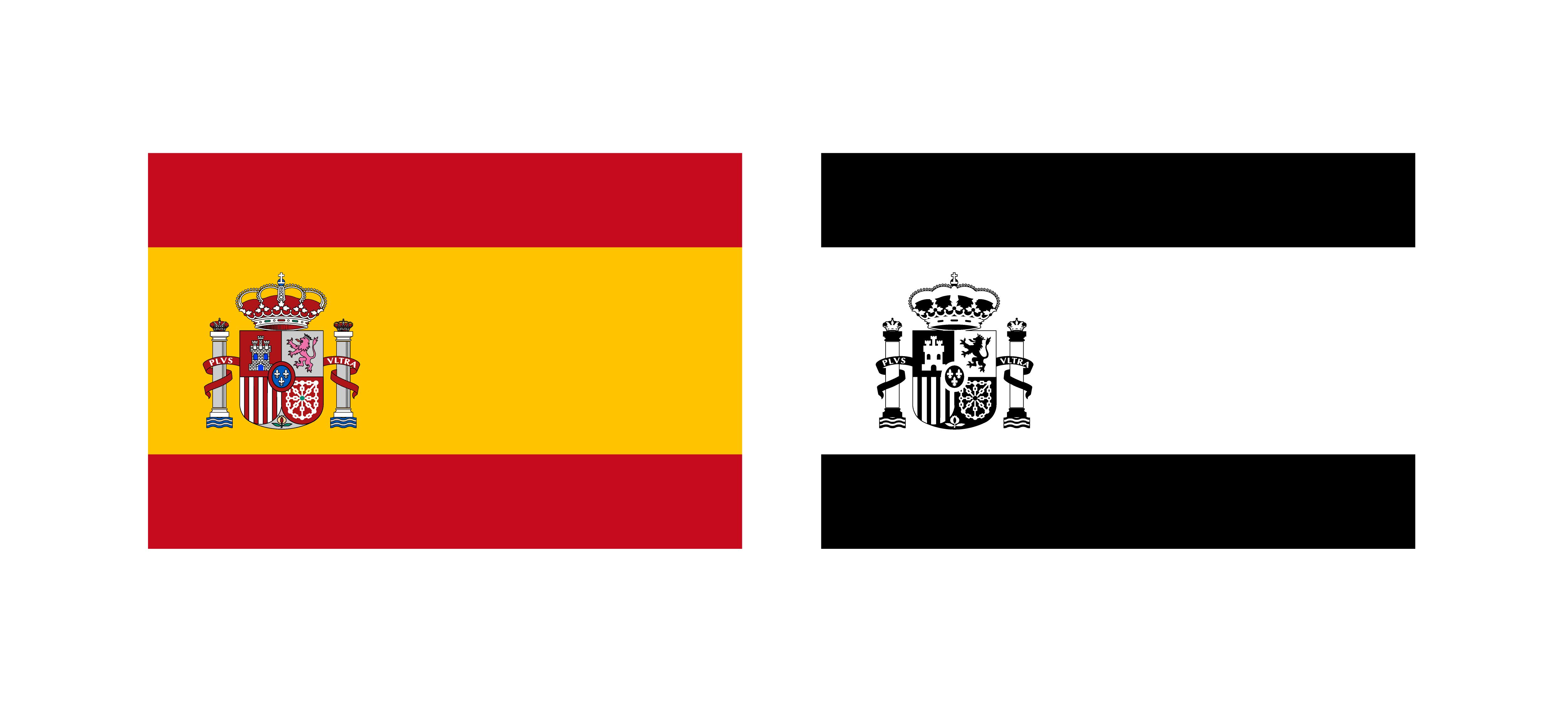 Spanish Flag Free Vector Art